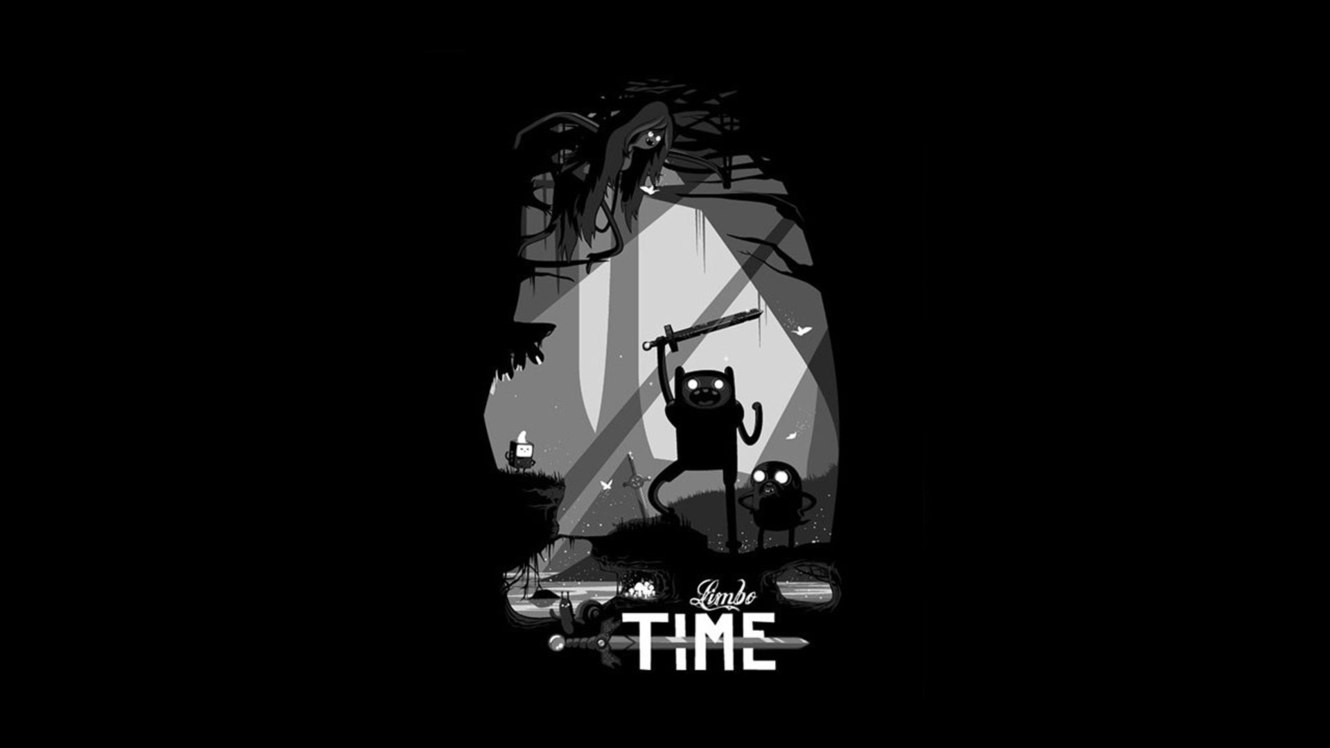Pubg Wallpaper 4k Black And White: Adventure Time Limbo Wallpaper