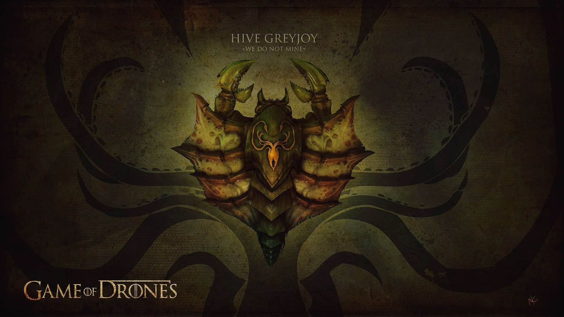 game of thrones ii house greyjoy drones wallpaper | allwallpaper.in