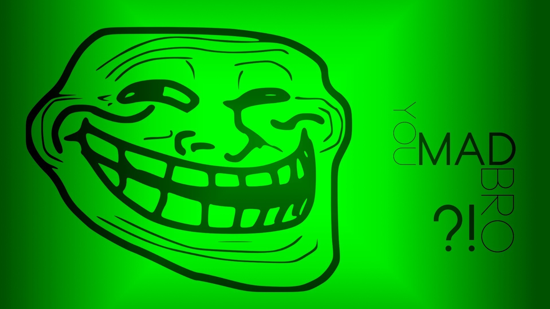 Trollface hd Wallpaper Internet Funny Green Trollface