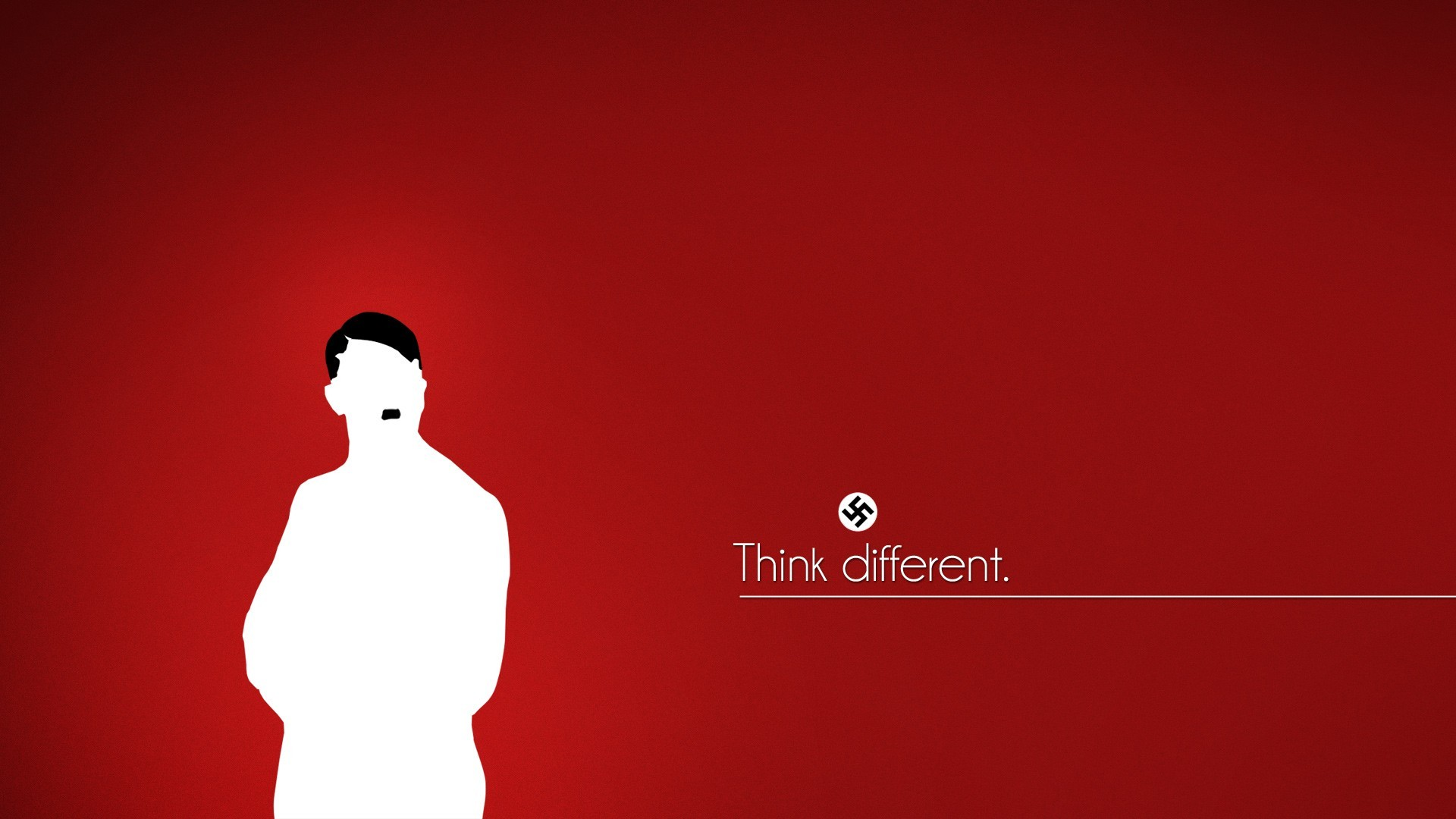 Minimalistic text nazi adolf hitler red background ...