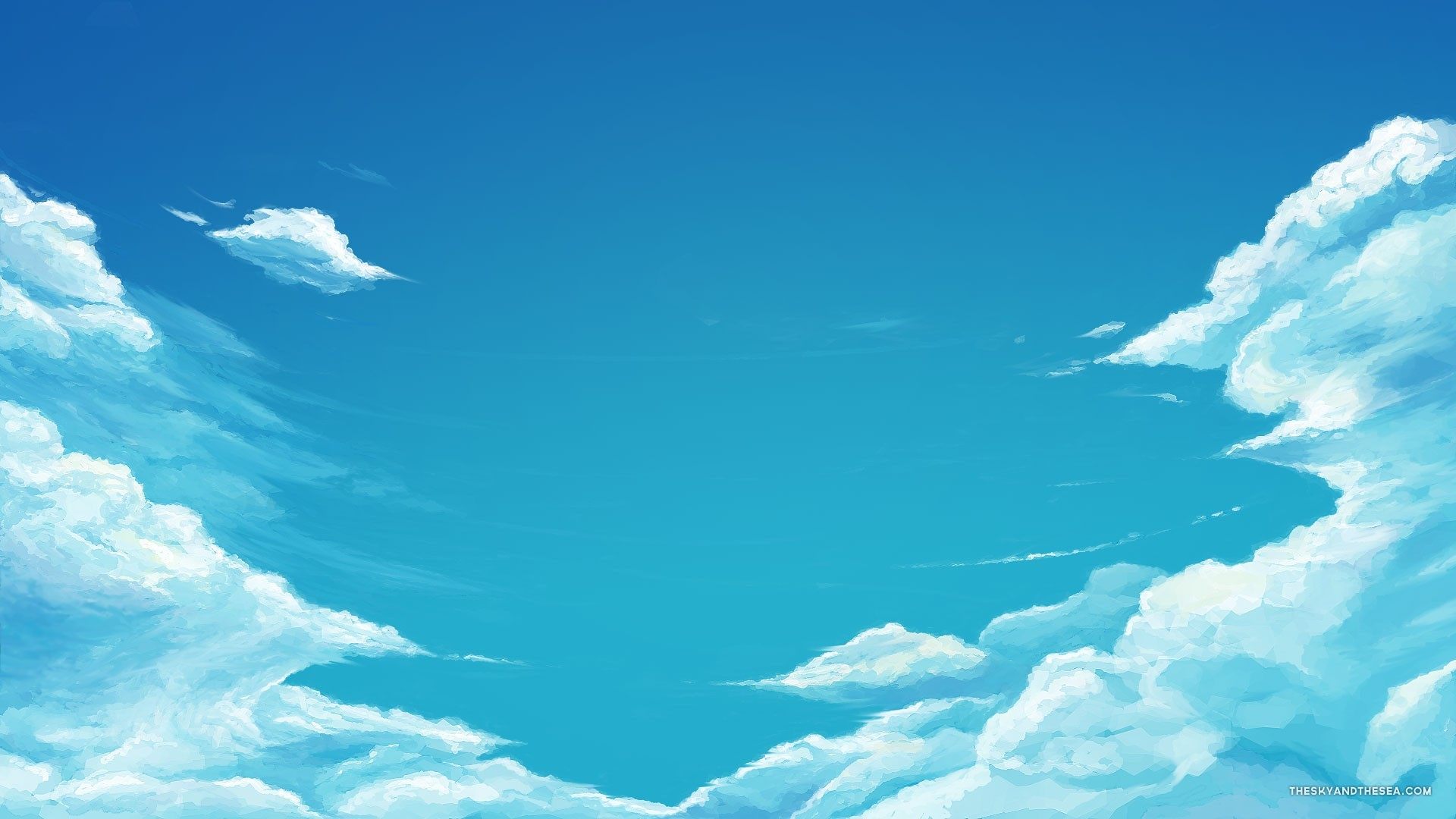 Very Cool Blue Sky Wallpaper