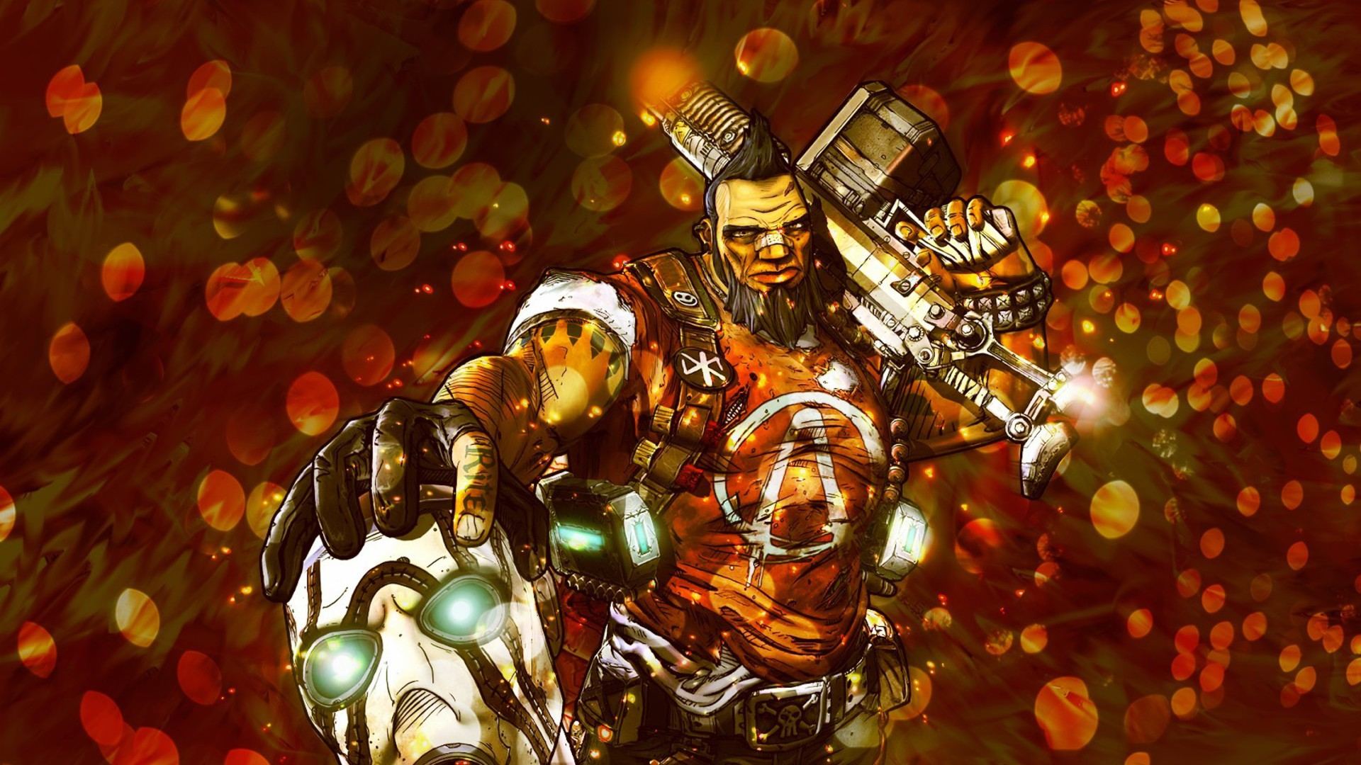 borderlands 2 salvador berserker wallpaper allwallpaper