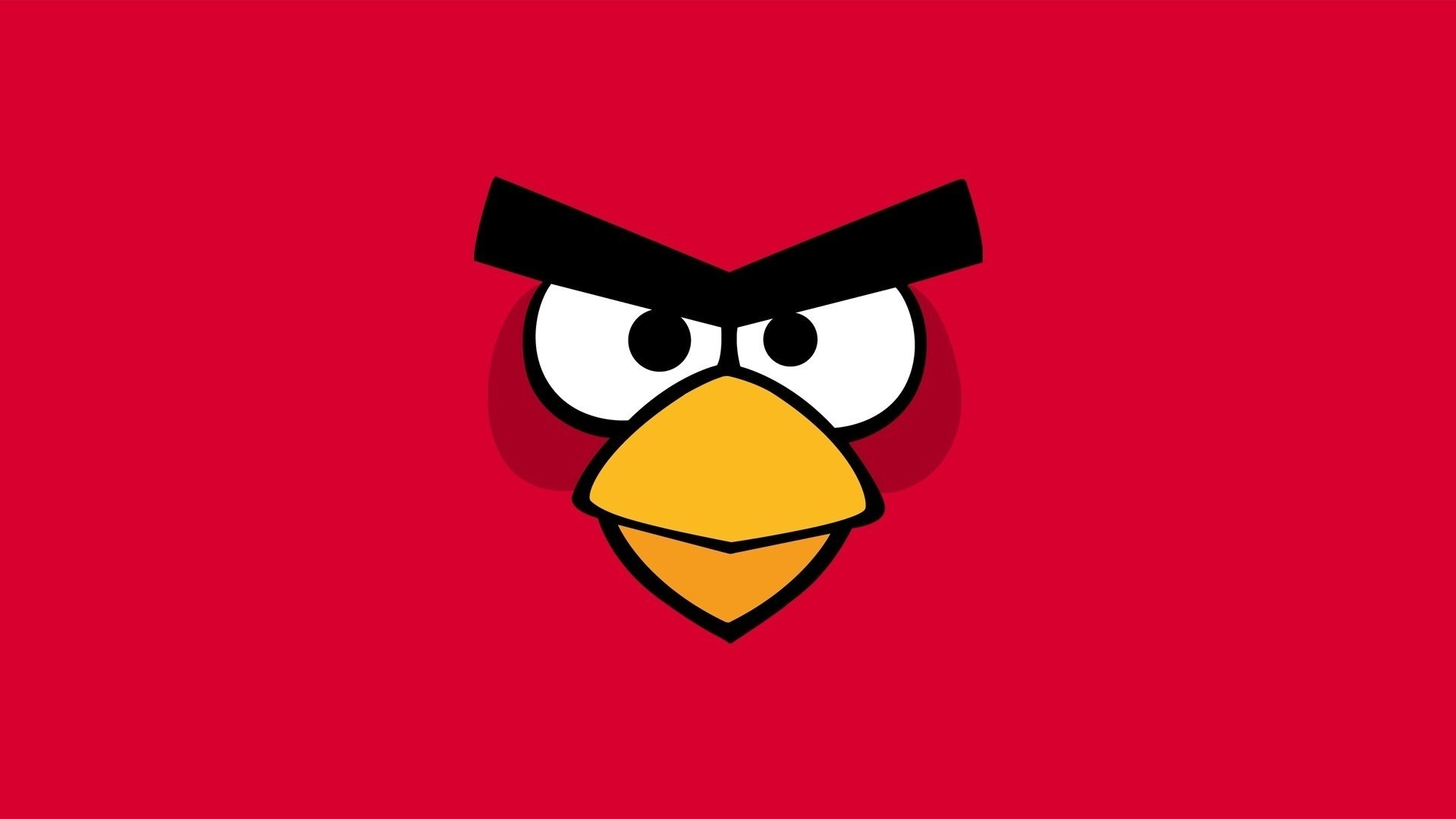 Minimalistic Angry Birds Wallpaper