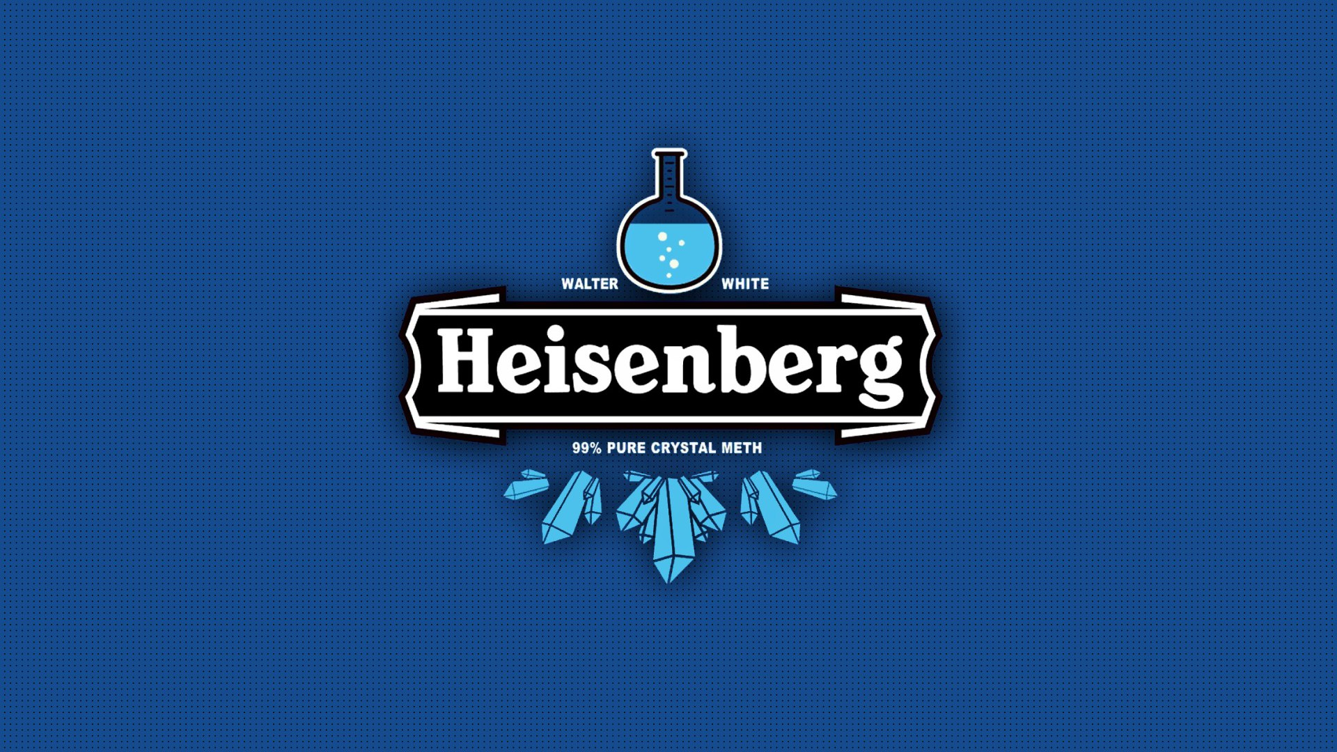 Minimalistic Breaking Bad Tv Series Heisenberg Wallpaper