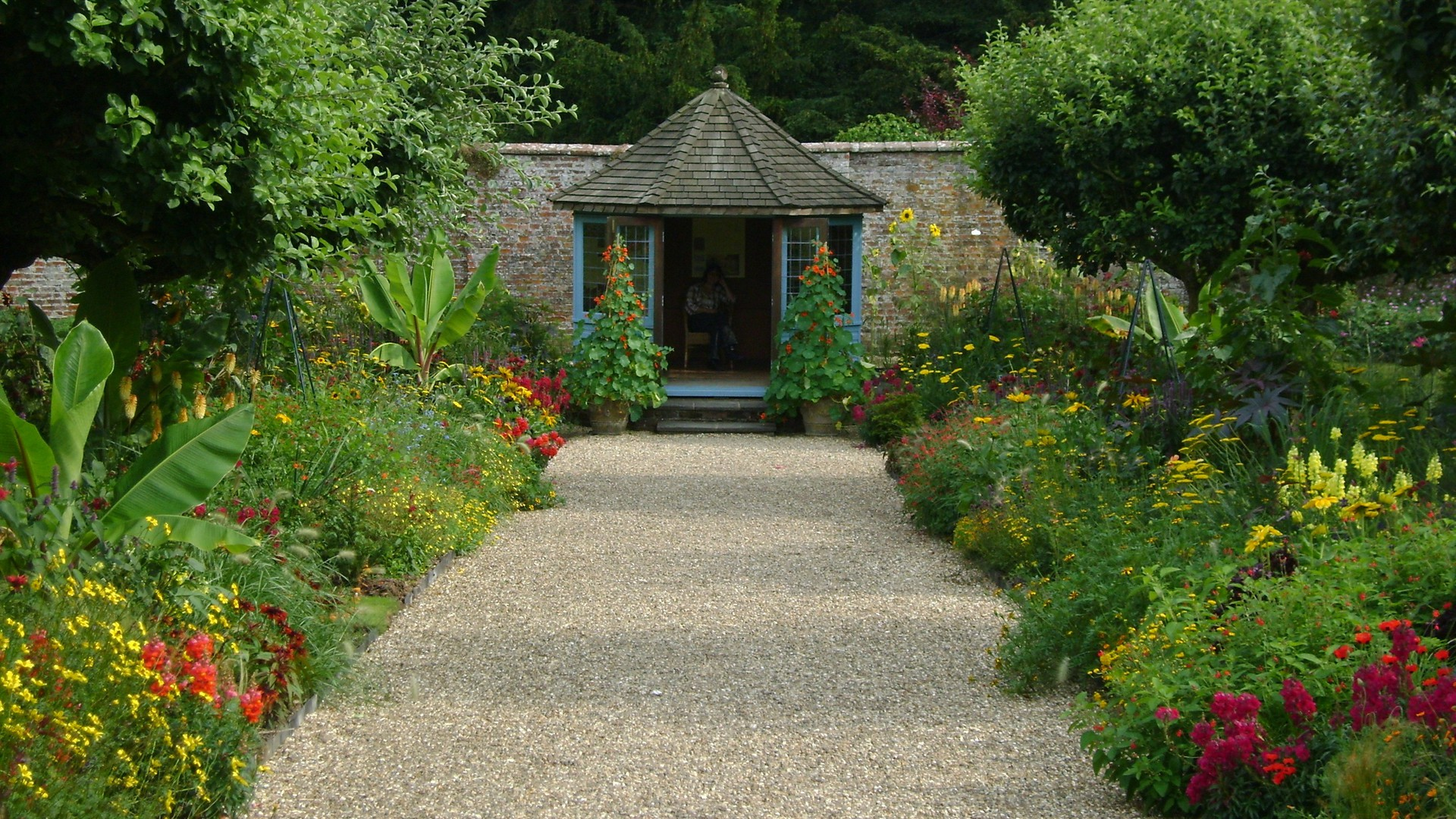 Down the garden path wallpaper 15397 for Wallpaper home and garden