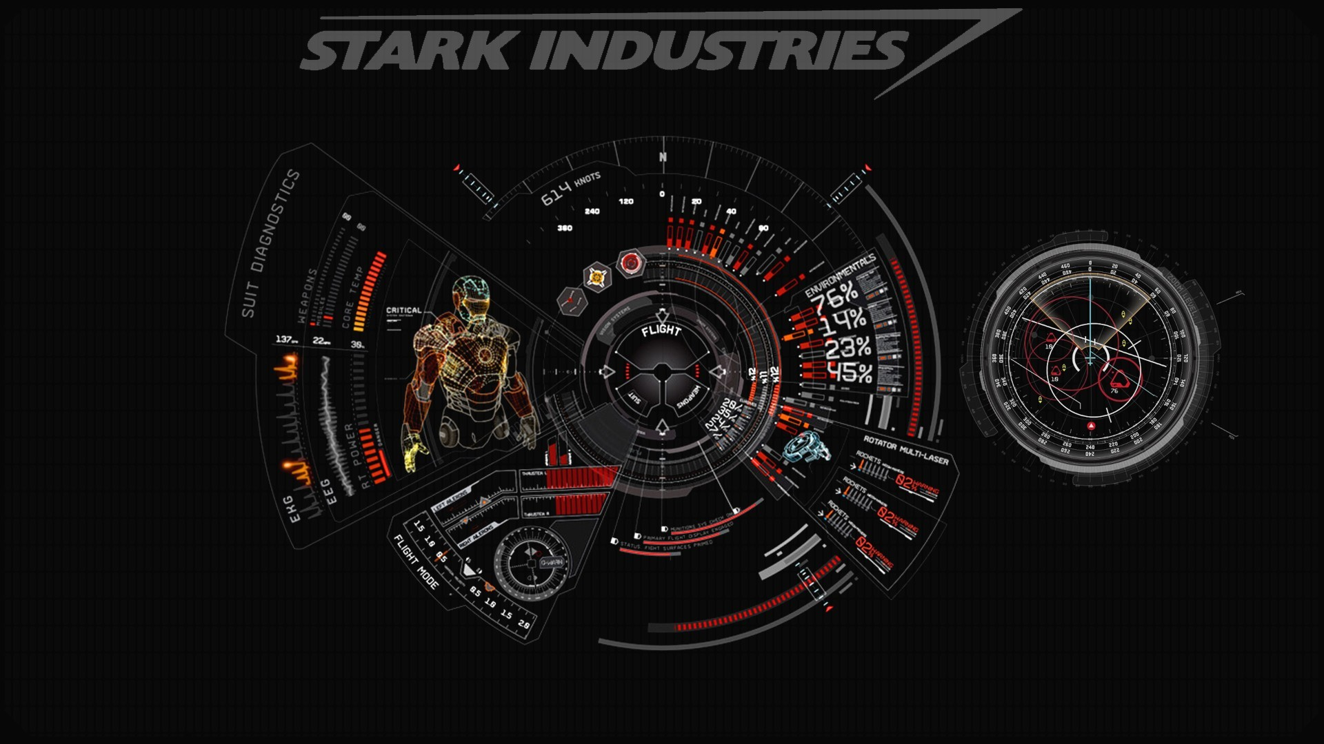 Iron man red stark industries wallpaper | AllWallpaper.in #16195 ...