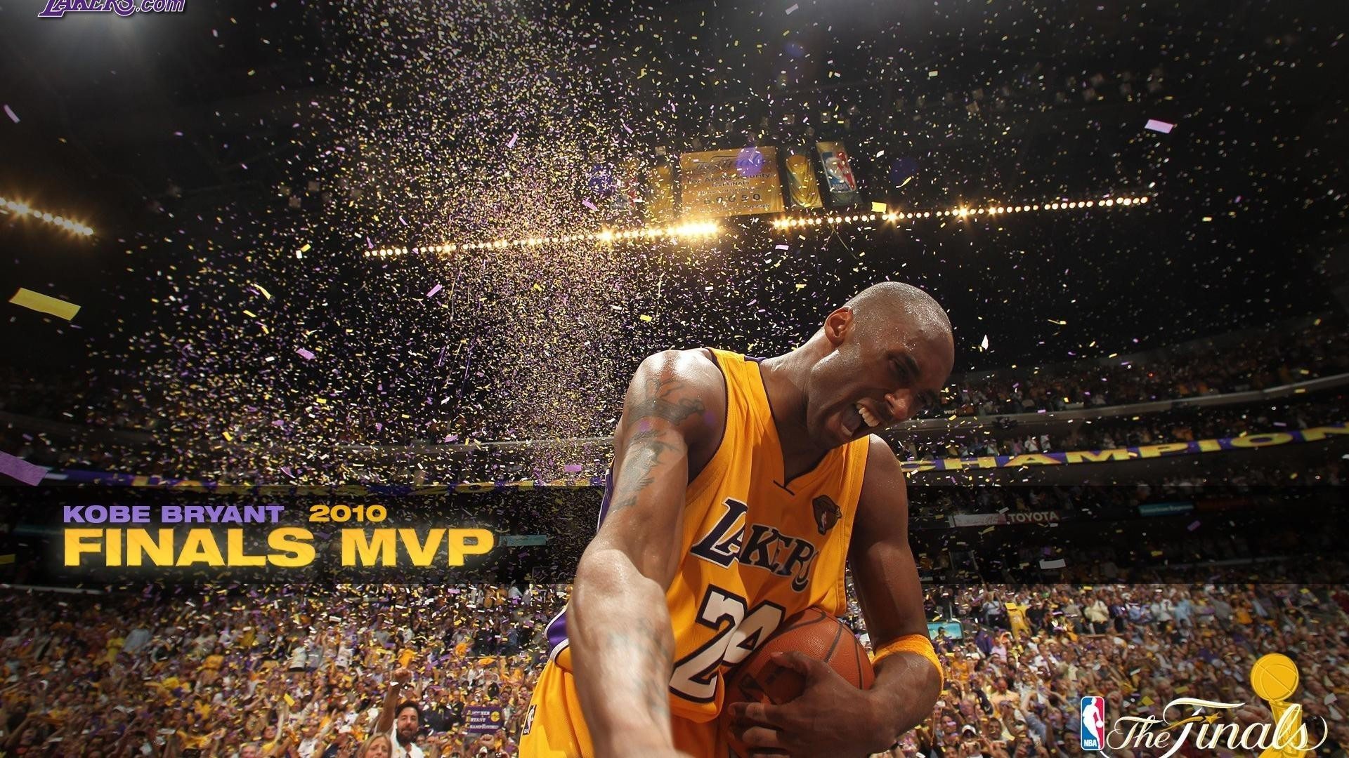 Kobe Bryant Los Angeles Lakers Athletes Celebrity Championship Wallpaper