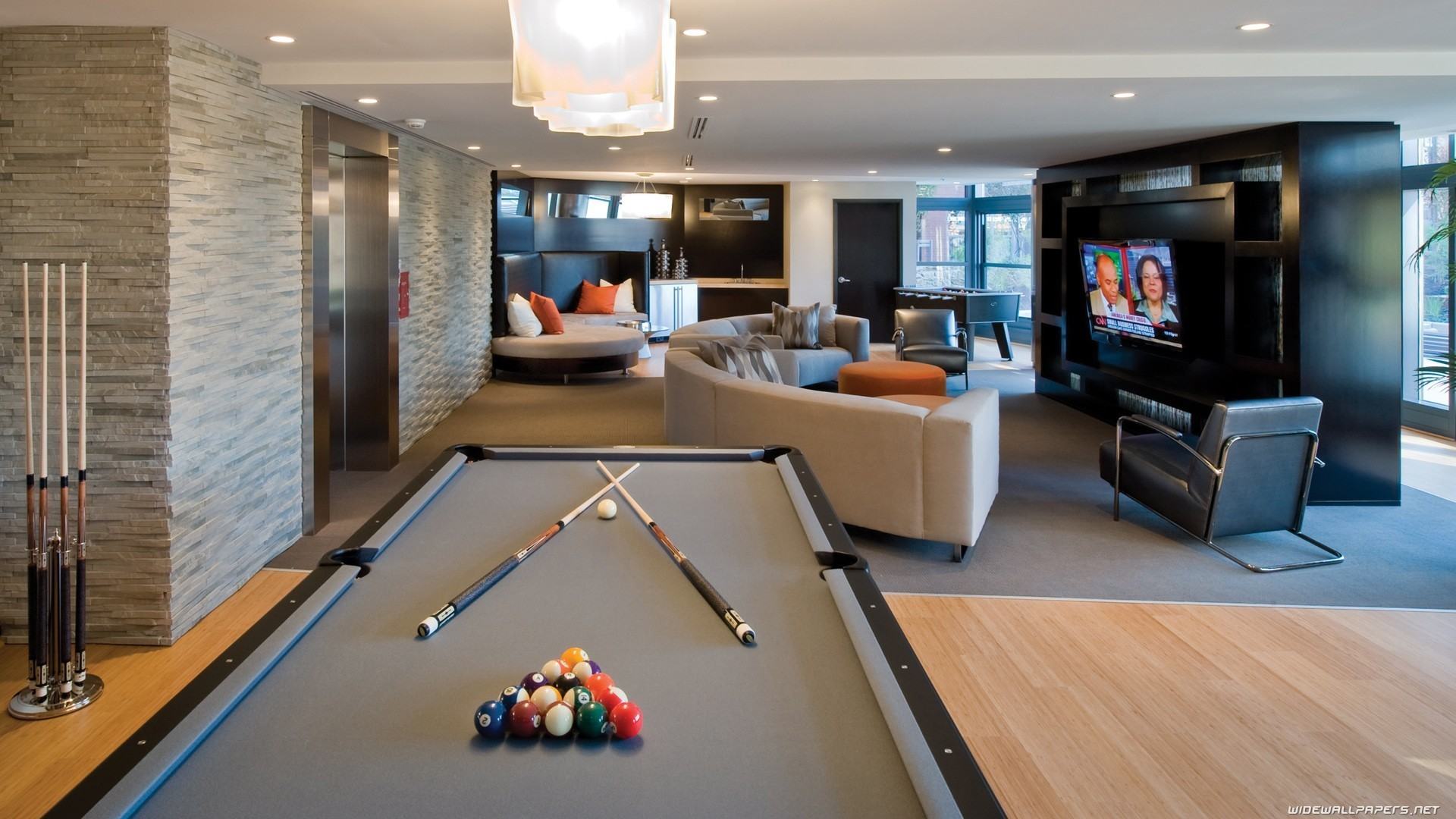 Billard tables de design d 39 int rieur papier peint for Big game room