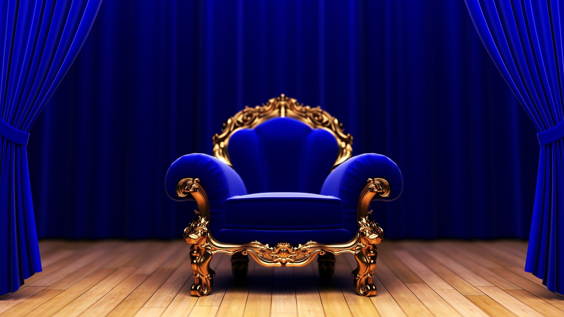 Blue Couch Studio King Armchair Wallpaper Allwallpaper