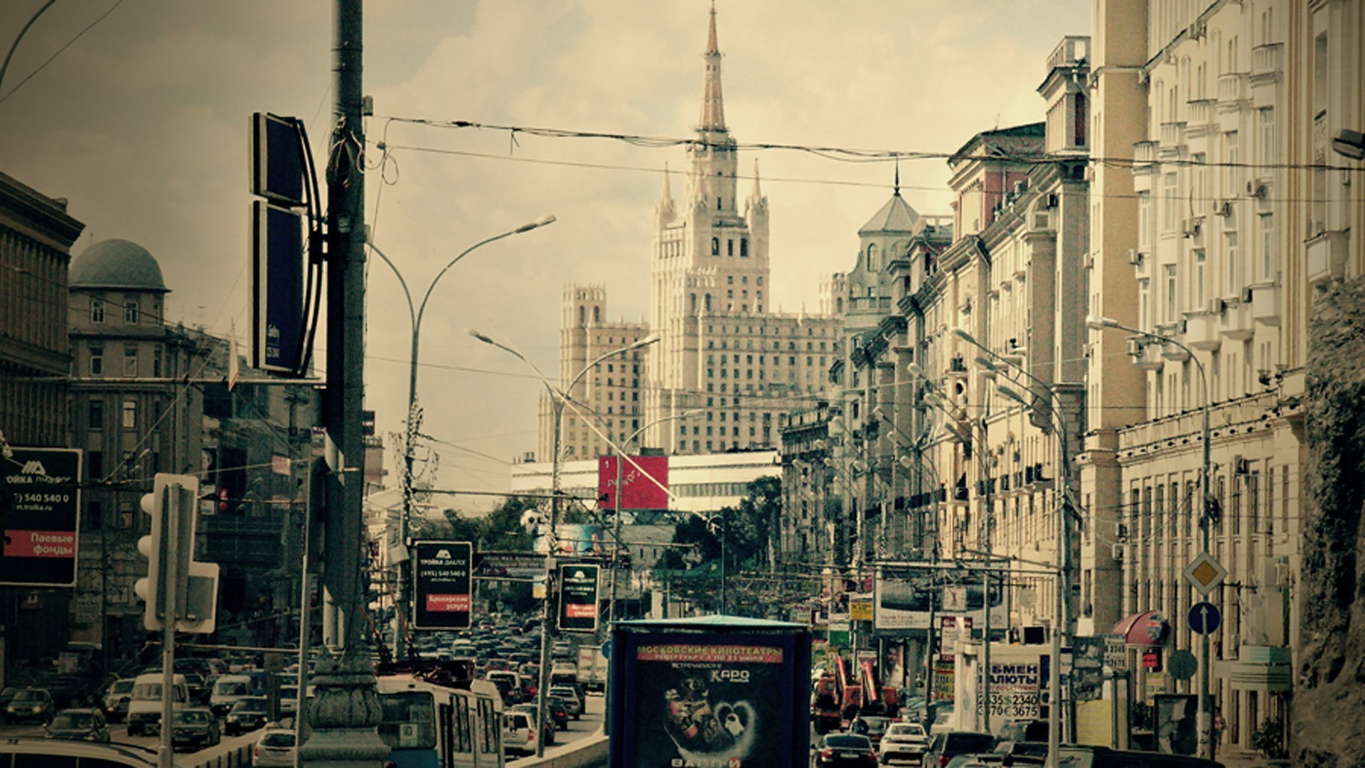 Moscow russia cityscapes traffic urban wallpaper ...