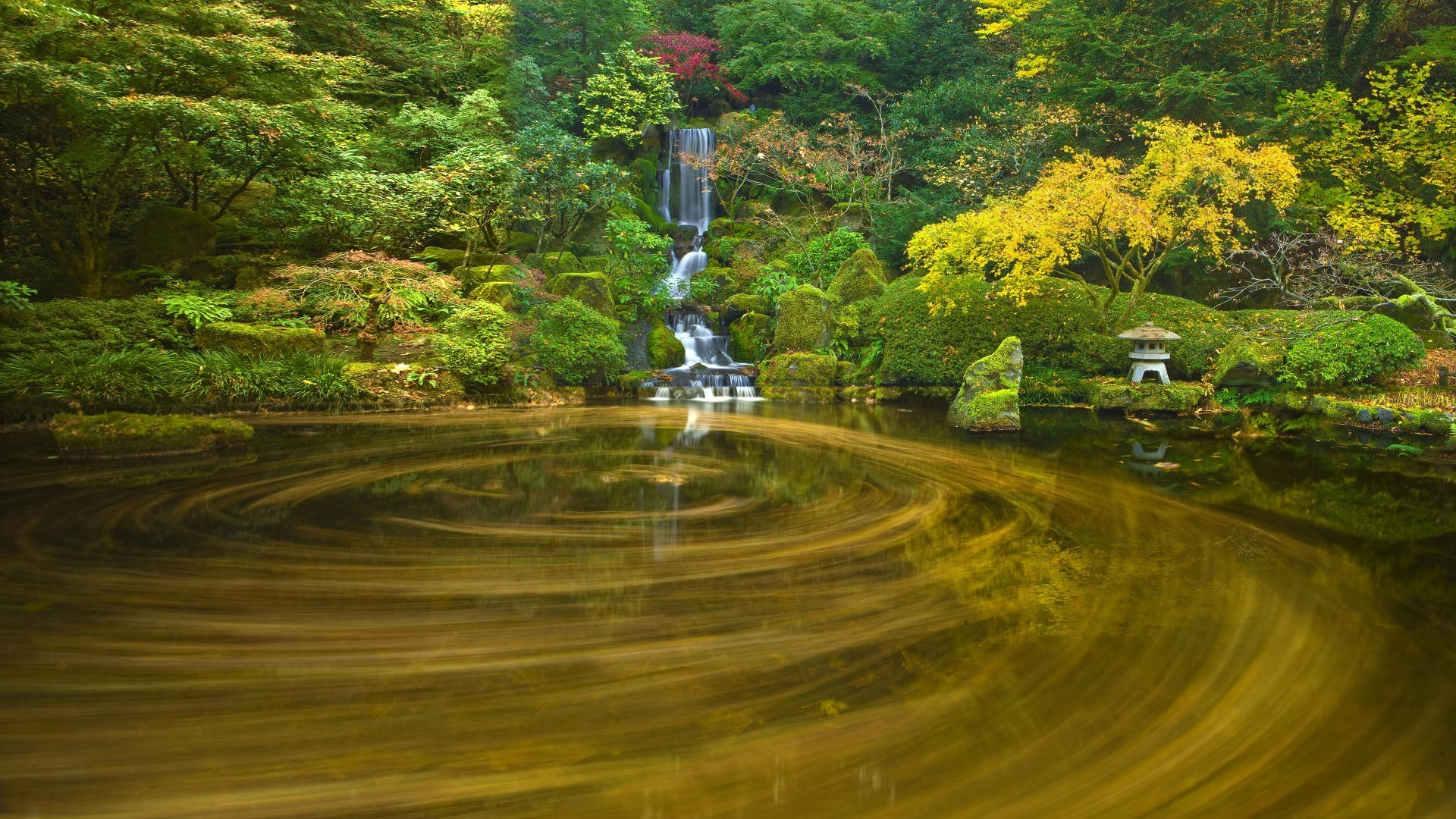 Japanese nature ponds waterfalls wallpaper allwallpaper - Nature japan wallpaper ...
