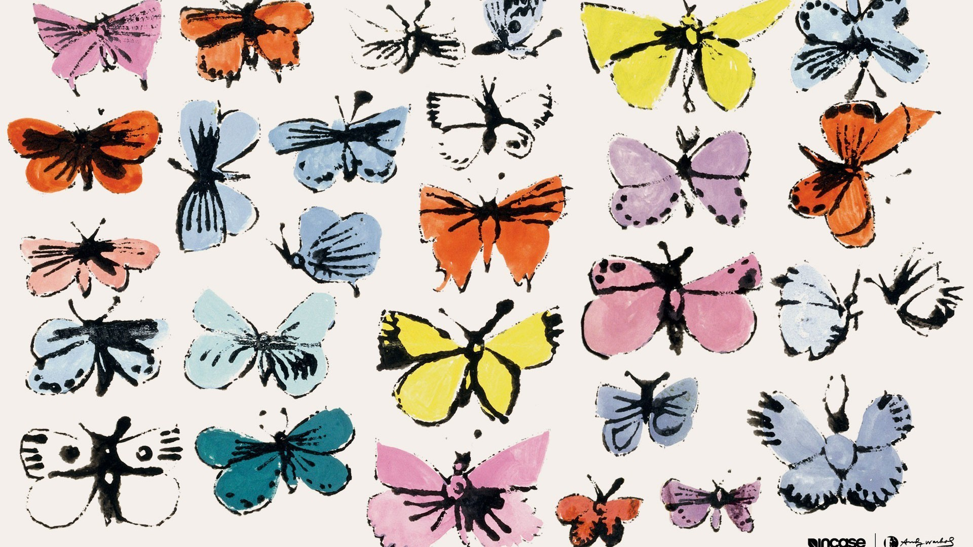 andy warhol incase butterflies wallpaper. Black Bedroom Furniture Sets. Home Design Ideas