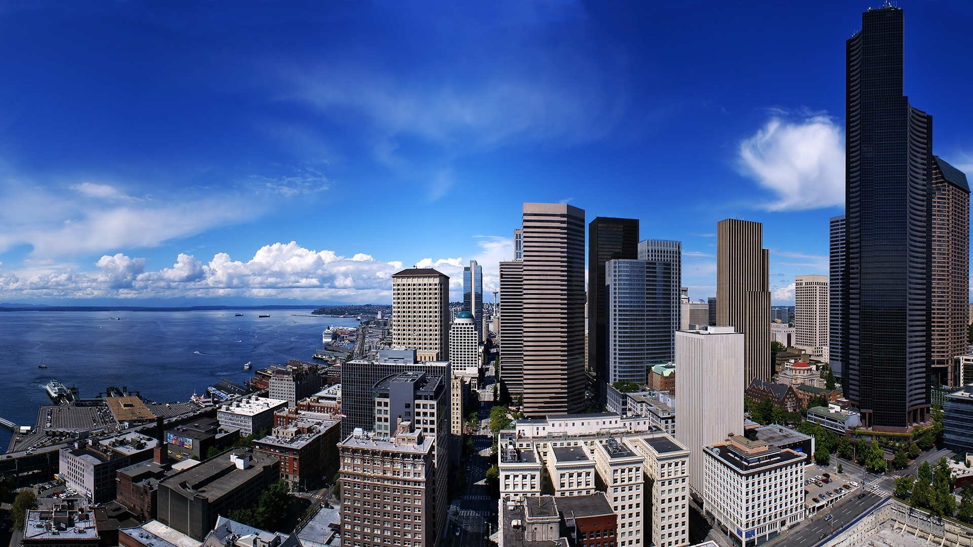 Cityscapes Clouds Port Ships Wideangle Wallpaper Allwallpaperin