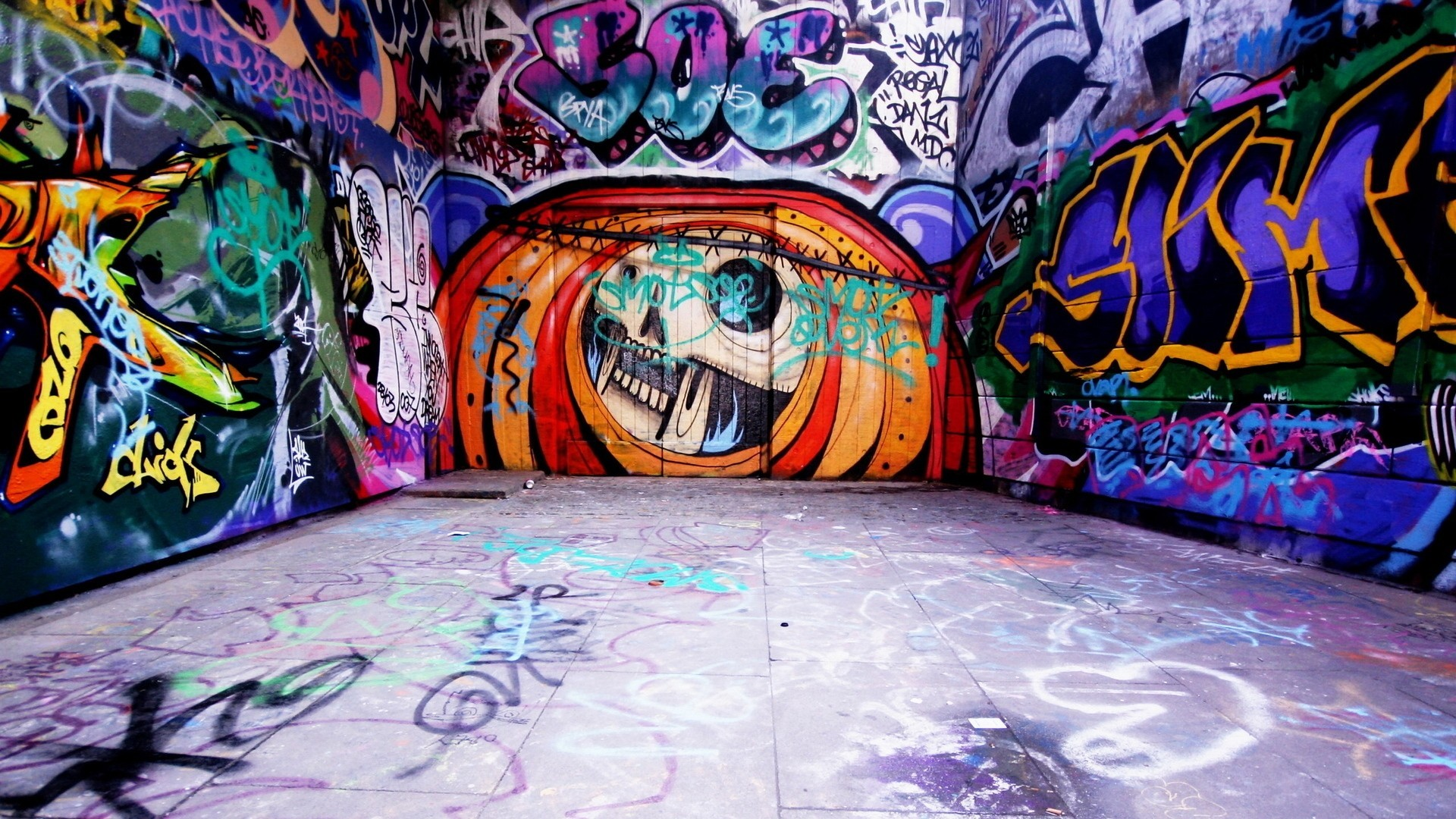 Graffiti wall art wallpaper 2829 pc en for Wall art wallpaper