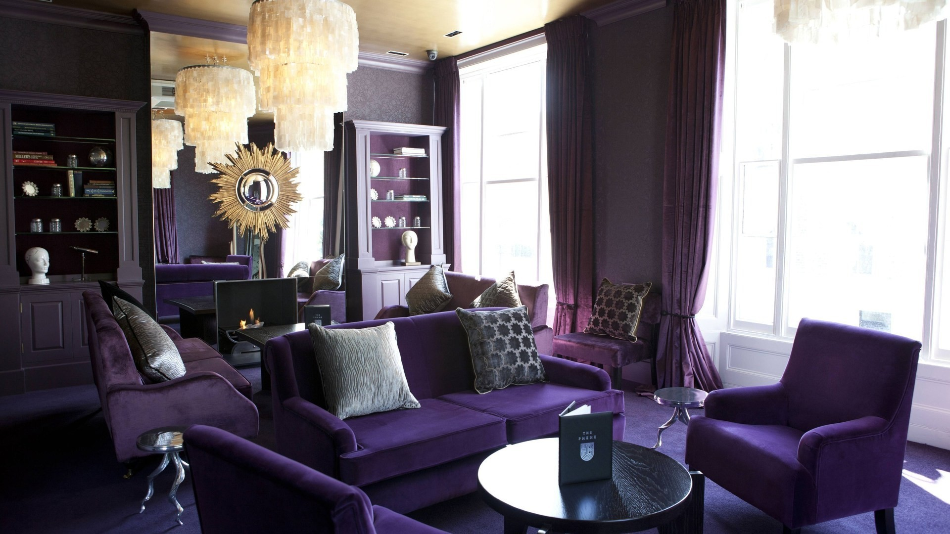 purple wallpaper living room interior design living room purple wallpaper 15096