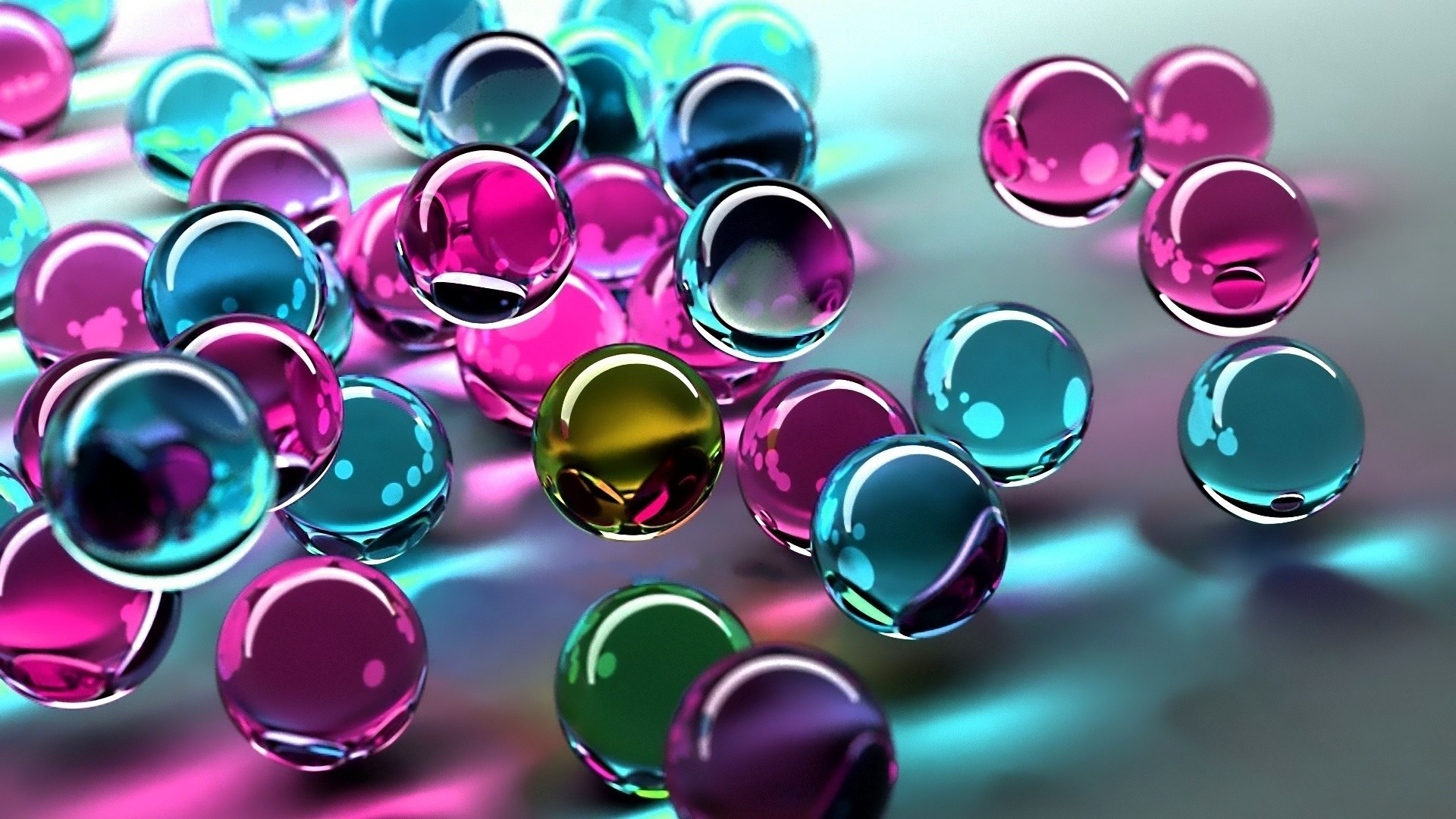 Abstract Spheres Digital Art Wallpaper