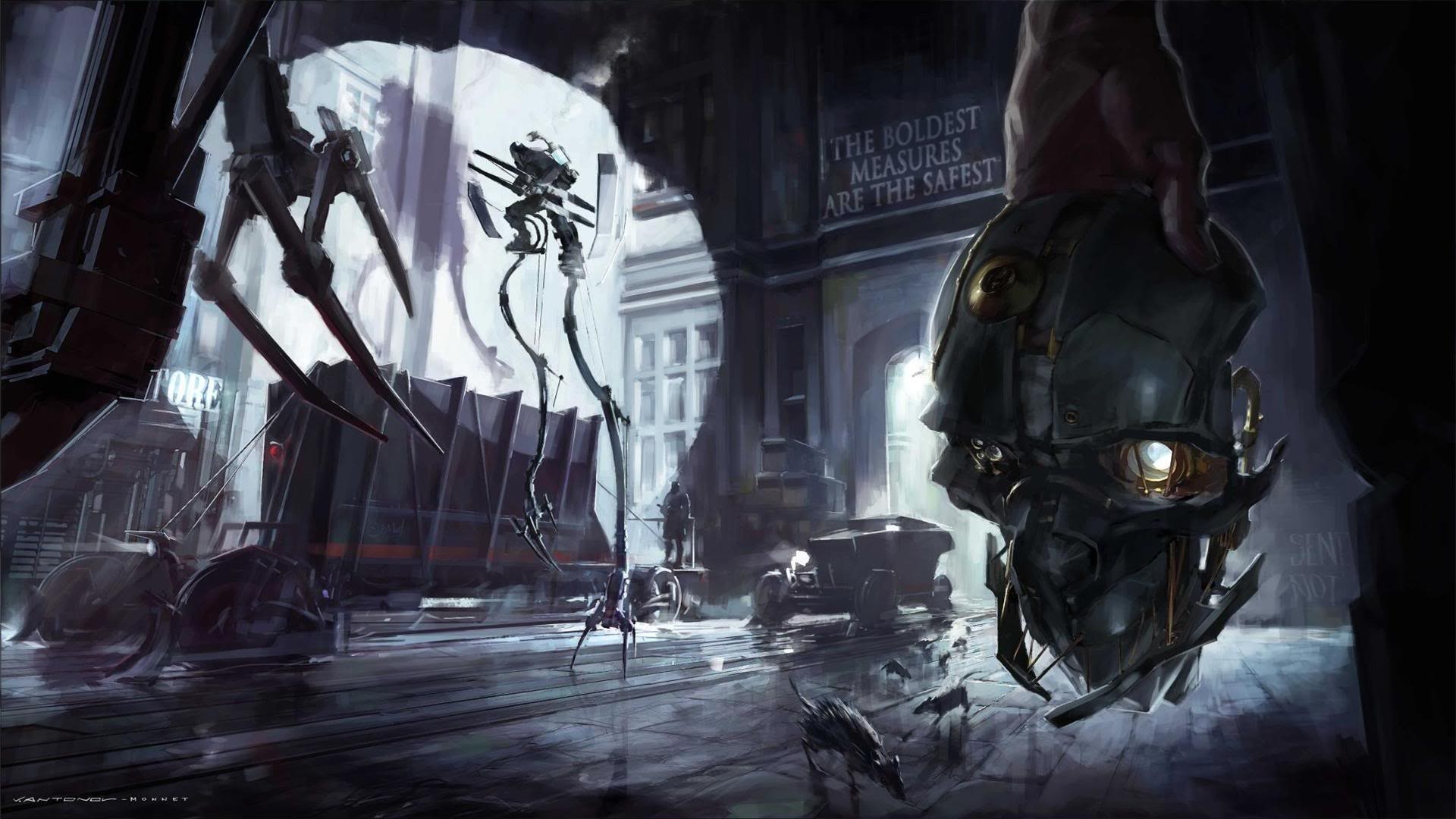 Dishonored Fan Art Corvo Video Games Wallpapers Hd: Video Games Robots Dishonored Game Art Wallpaper