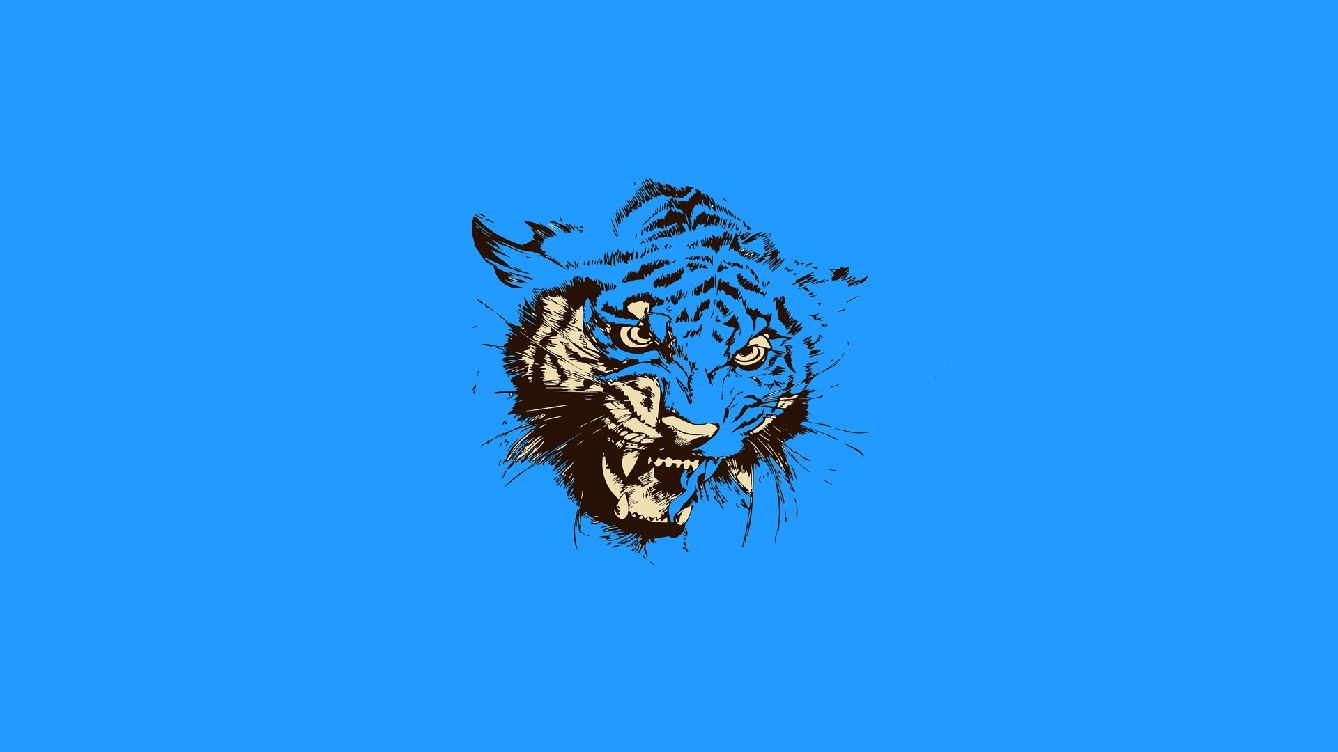 abstract simple simplistic tigers wallpaper | allwallpaper.in #4536