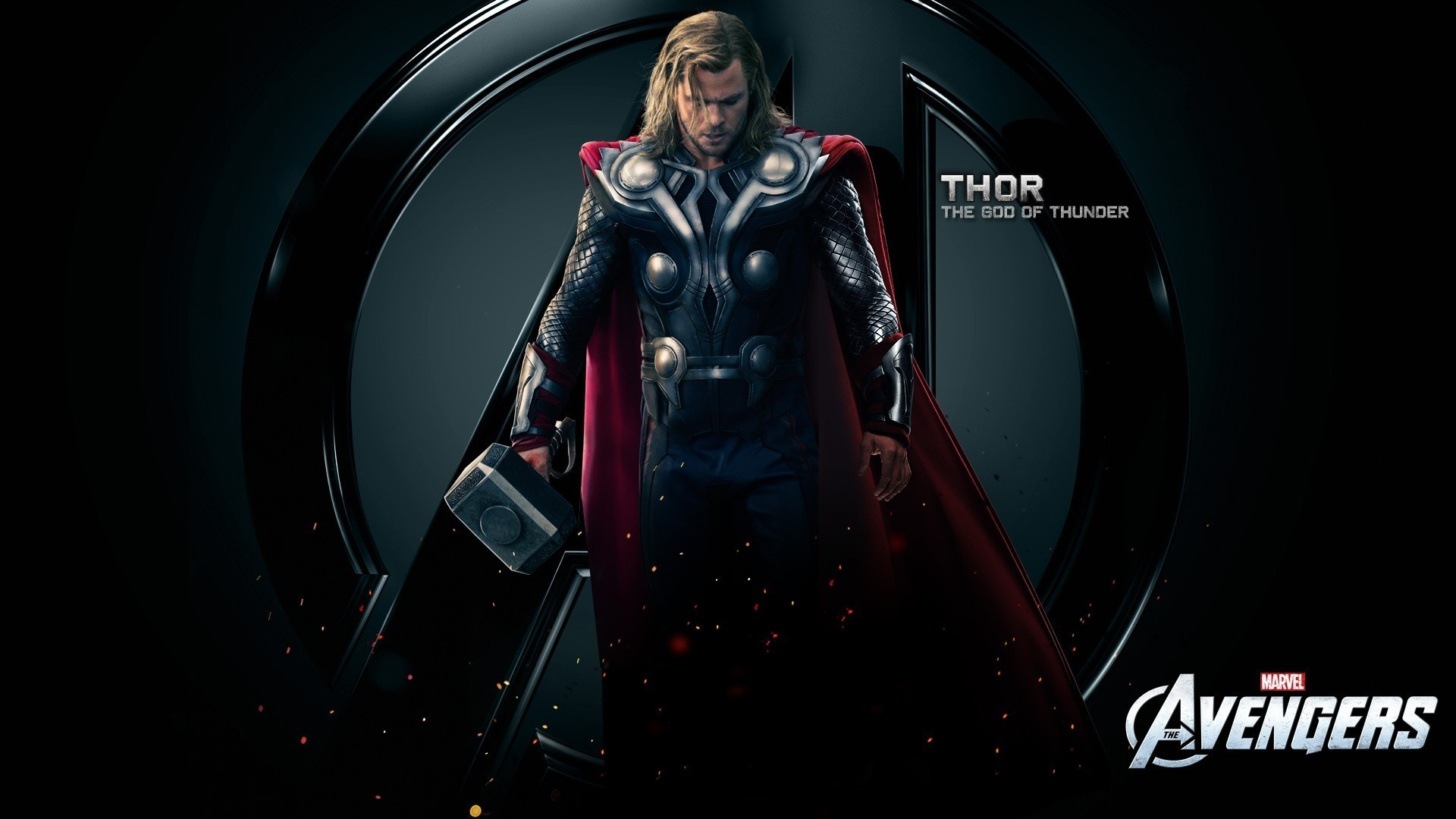 Chris Hemsworth Mjolnir The Avengers Movie Thor Wallpaper