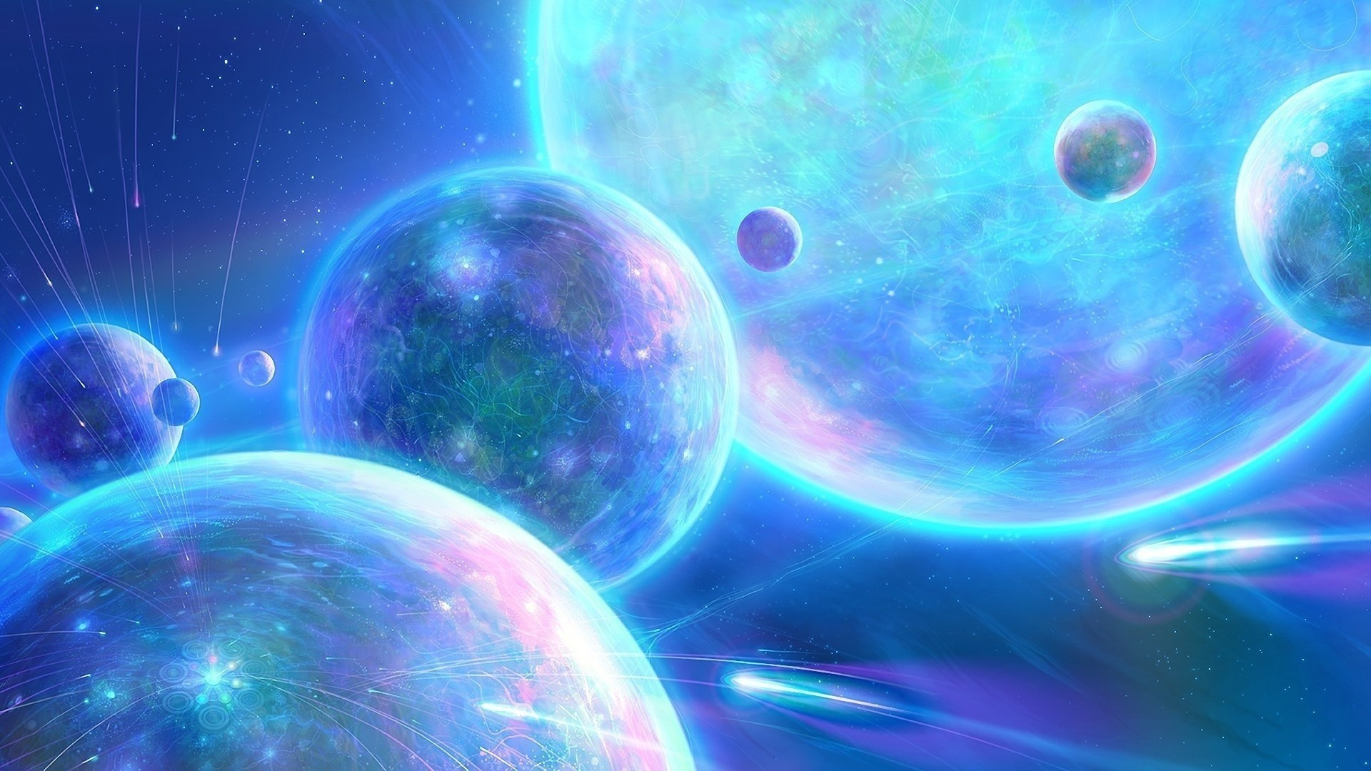Gary Tonge Digital Art Outer Space Planets Wallpaper