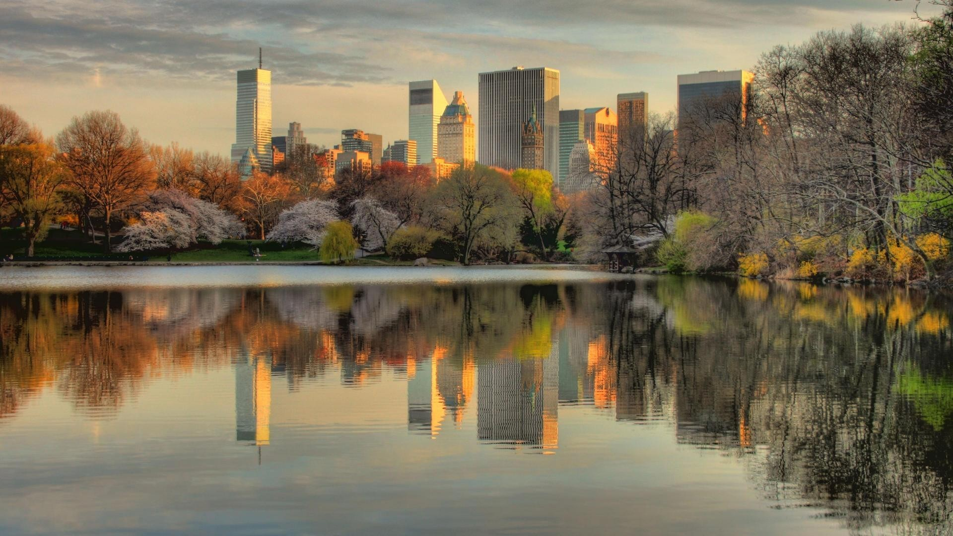 Nyc always looks best from central park hdr wallpaper