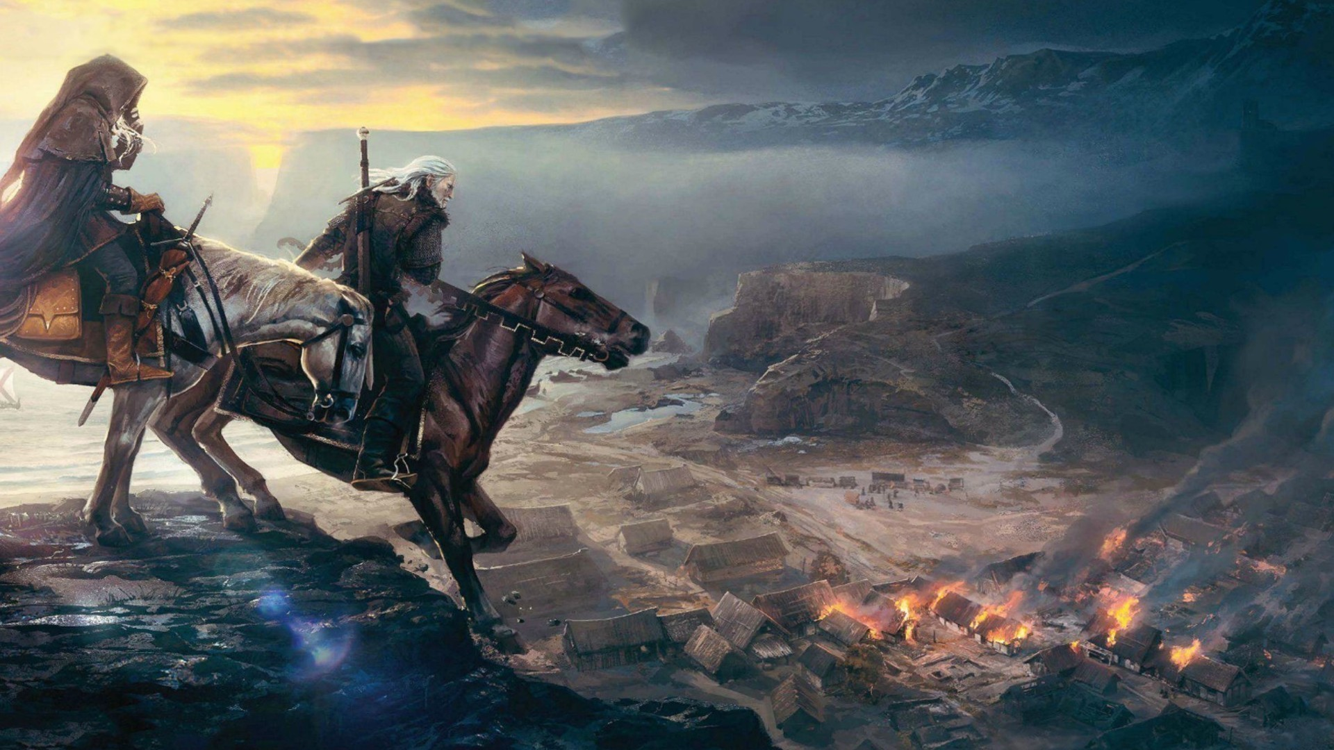 Video games the witcher hunt wild 3: wallpaper
