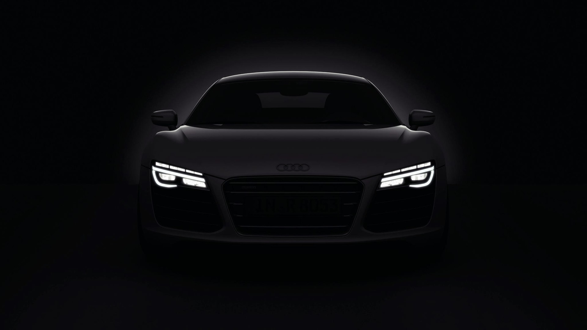 Cars Audi Roads R8 White V10 Wallpaper Allwallpaper In: Voitures Sombres Audi Phares R8 2013 Papier Peint