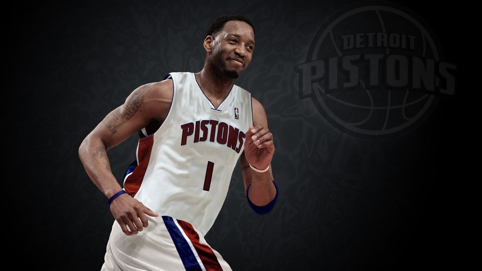 Detroit pistons nba tracy mcgrady basketball player wallpaper