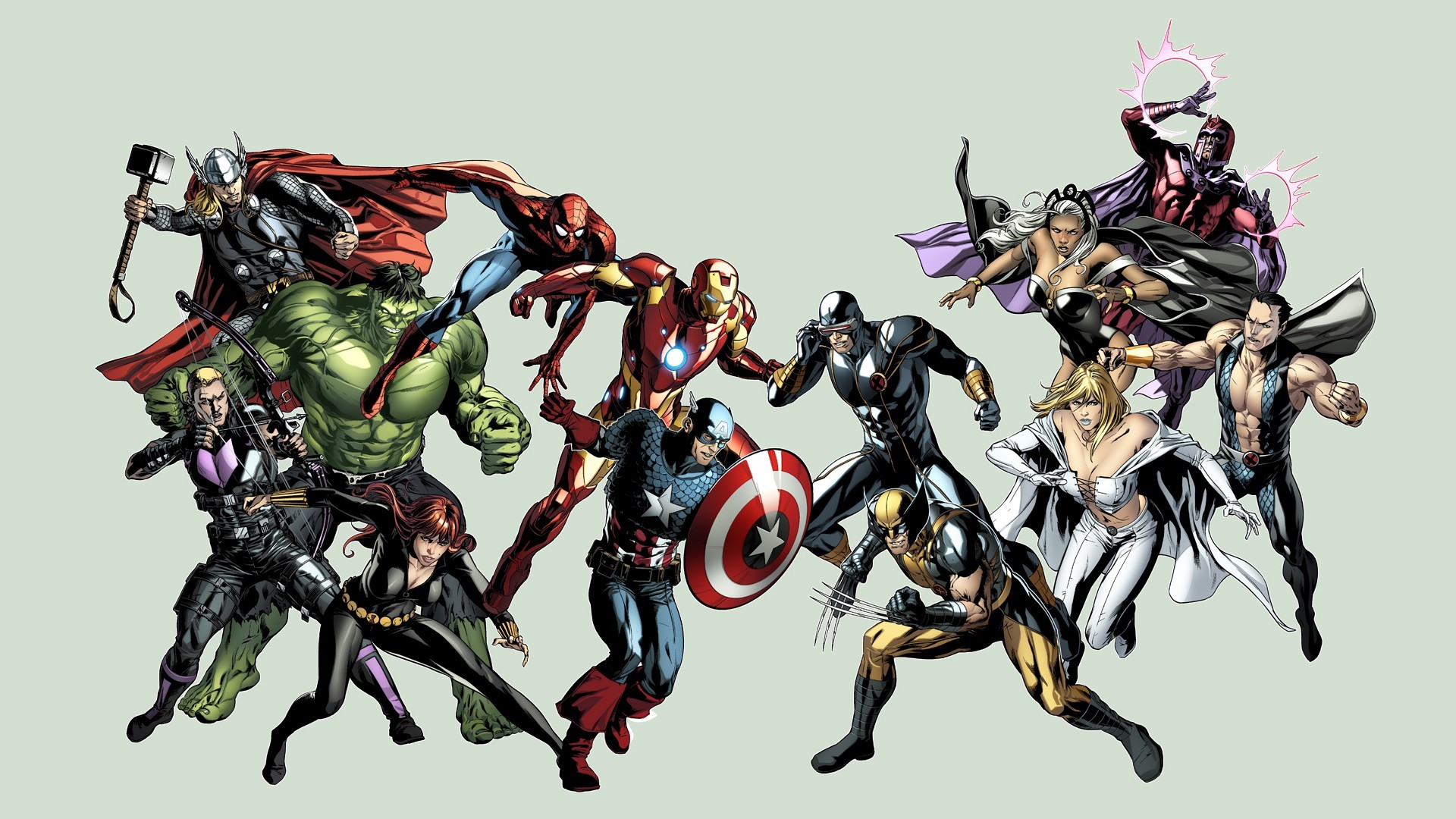 Hawkeye Cyclops Avengers Vs X Men Storm Comics Wallpaper