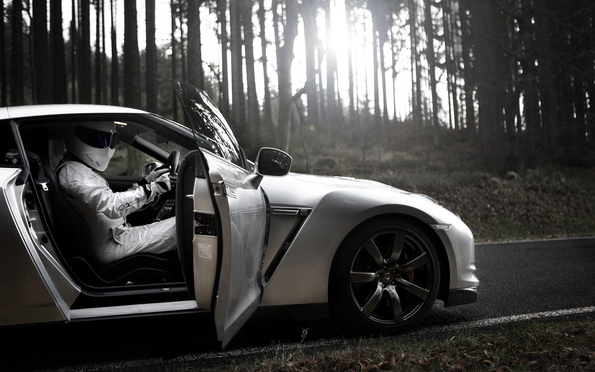 Nissan Gtr R35 The Stig Alpinestars Cars Wallpaper