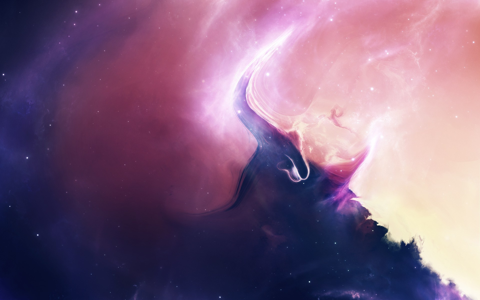 abstract artwork nebulae outer space wallpaper