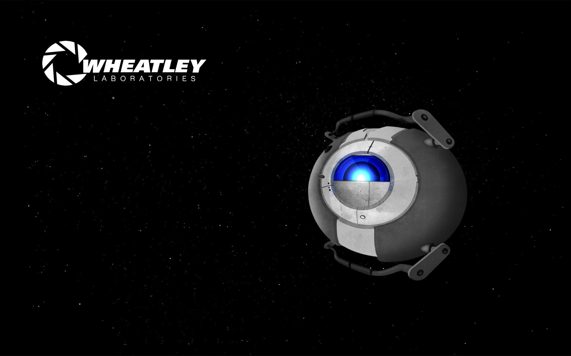 portal 2 wheatley science fiction space wallpaper