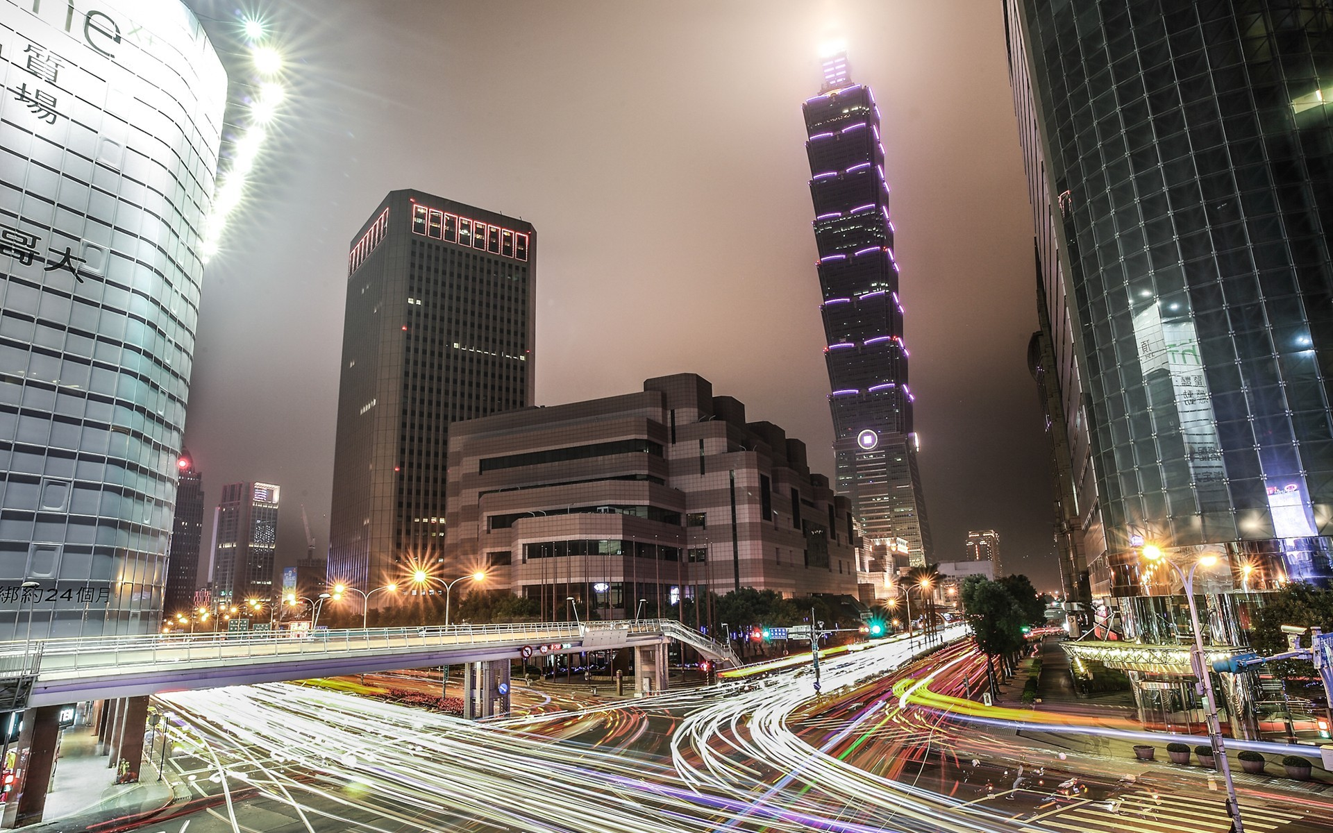 cityscapes lights taiwan taipei 101 cities wallpaper | allwallpaper