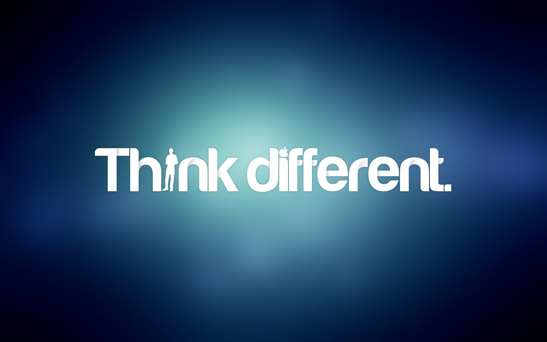 Text Wallpaper: Blue Text Think Different Typography Wallpaper