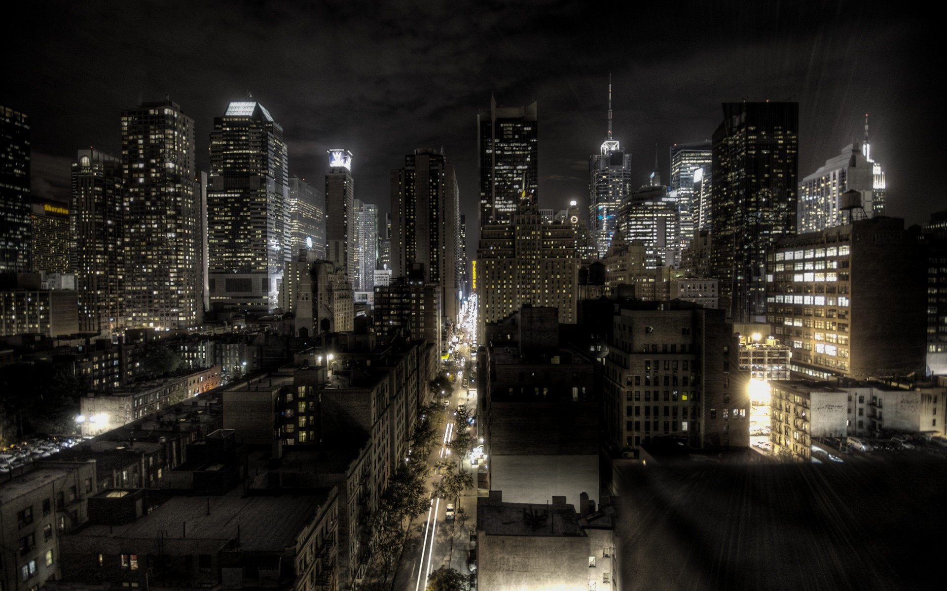 New york city lights cityscapes night wallpaper | AllWallpaper.in ... for City Lights At Night Wallpaper  584dqh