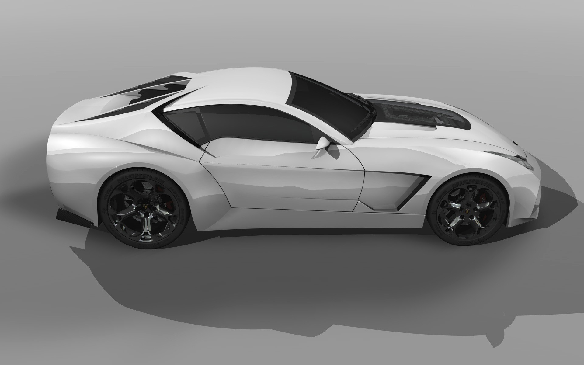 White Design Lamborghini Concept Art 2009 Toro Wallpaper