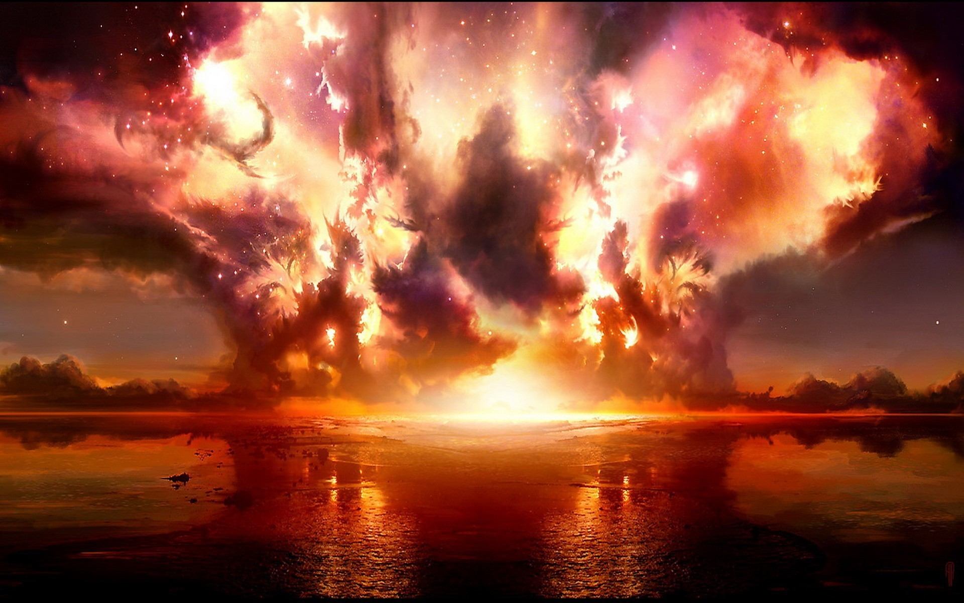 explosionen feuer wallpaper allwallpaperin 6675 pc de