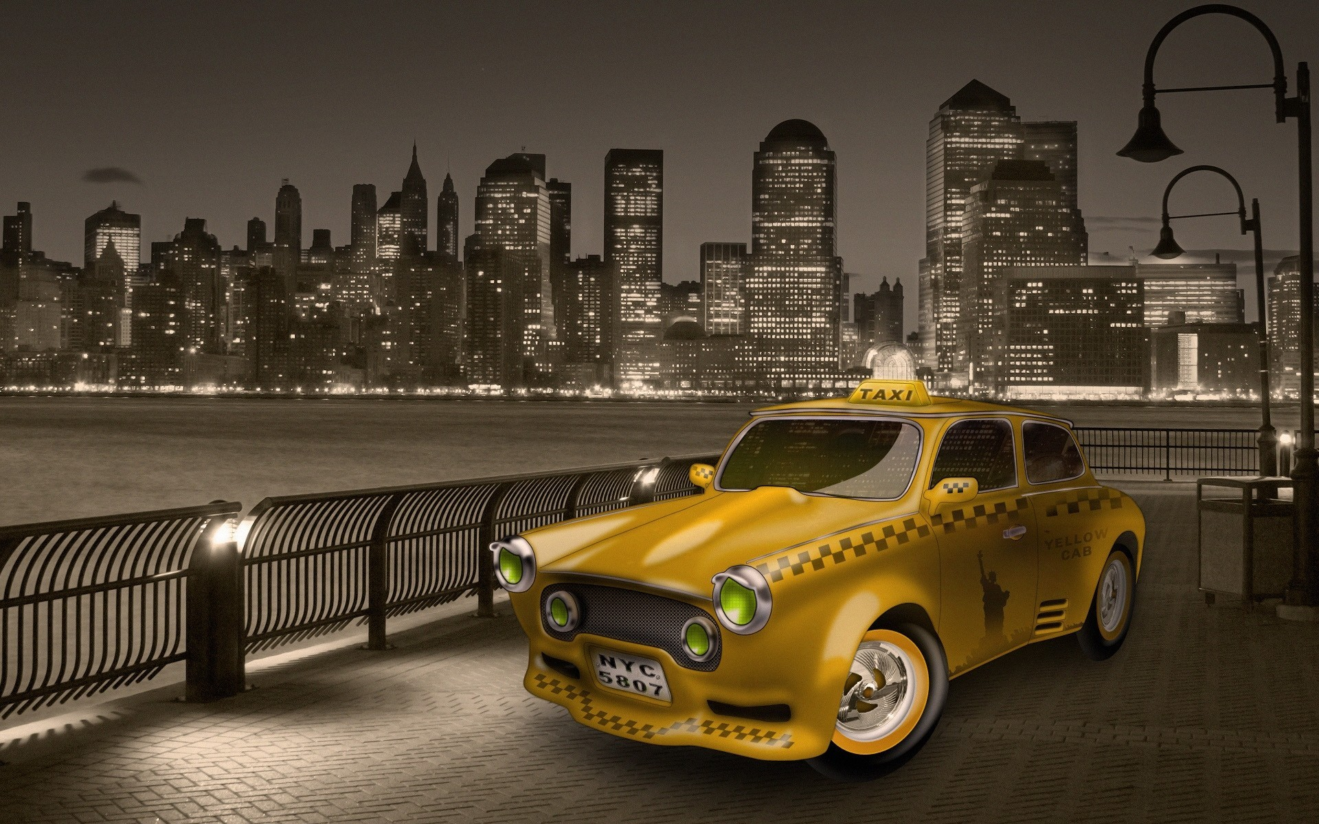 New York Taxi Papier Peint Allwallpaper In 7443 Pc Fr