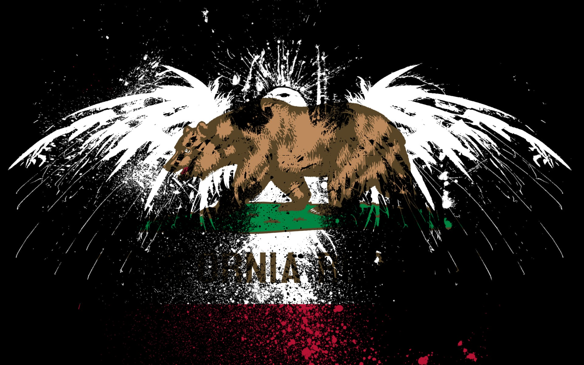 Eagles Hawk Flags Usa California State Wallpaper Allwallpaper In