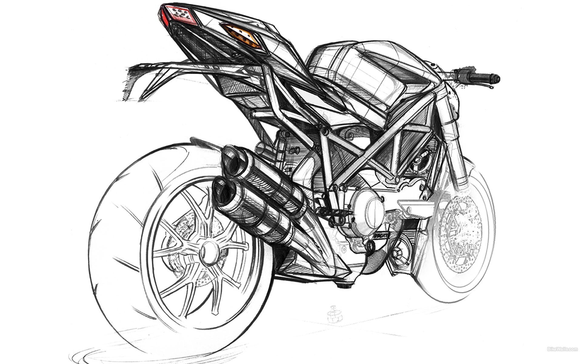 Ducati Artwork Motorbikes Sketches Vehicles Wallpaper Allwallpaper