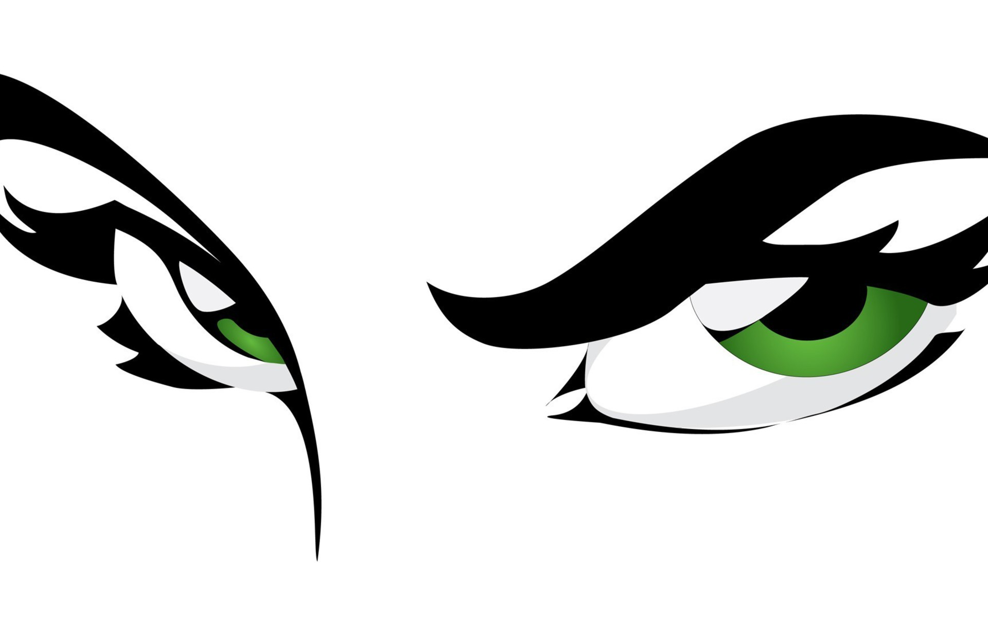 Eyes Graphics Green Vector White Background Wallpaper