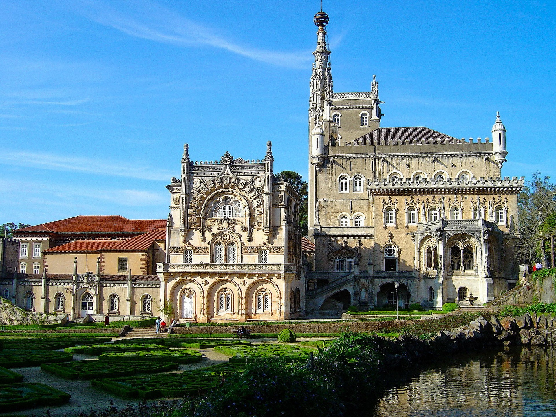 Hotel Palace Of Bussaco Portugal Architecture Buildings Wallpaper