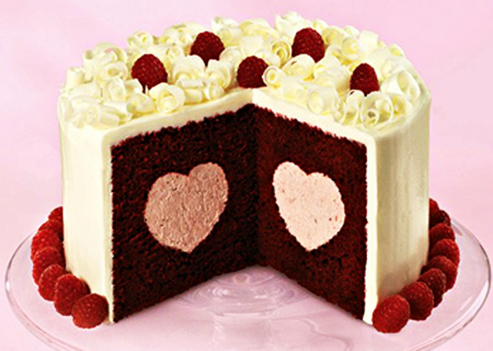 Images Of Cake For Lover : Cute heart rasberry cake wallpaper AllWallpaper.in #5488 ...