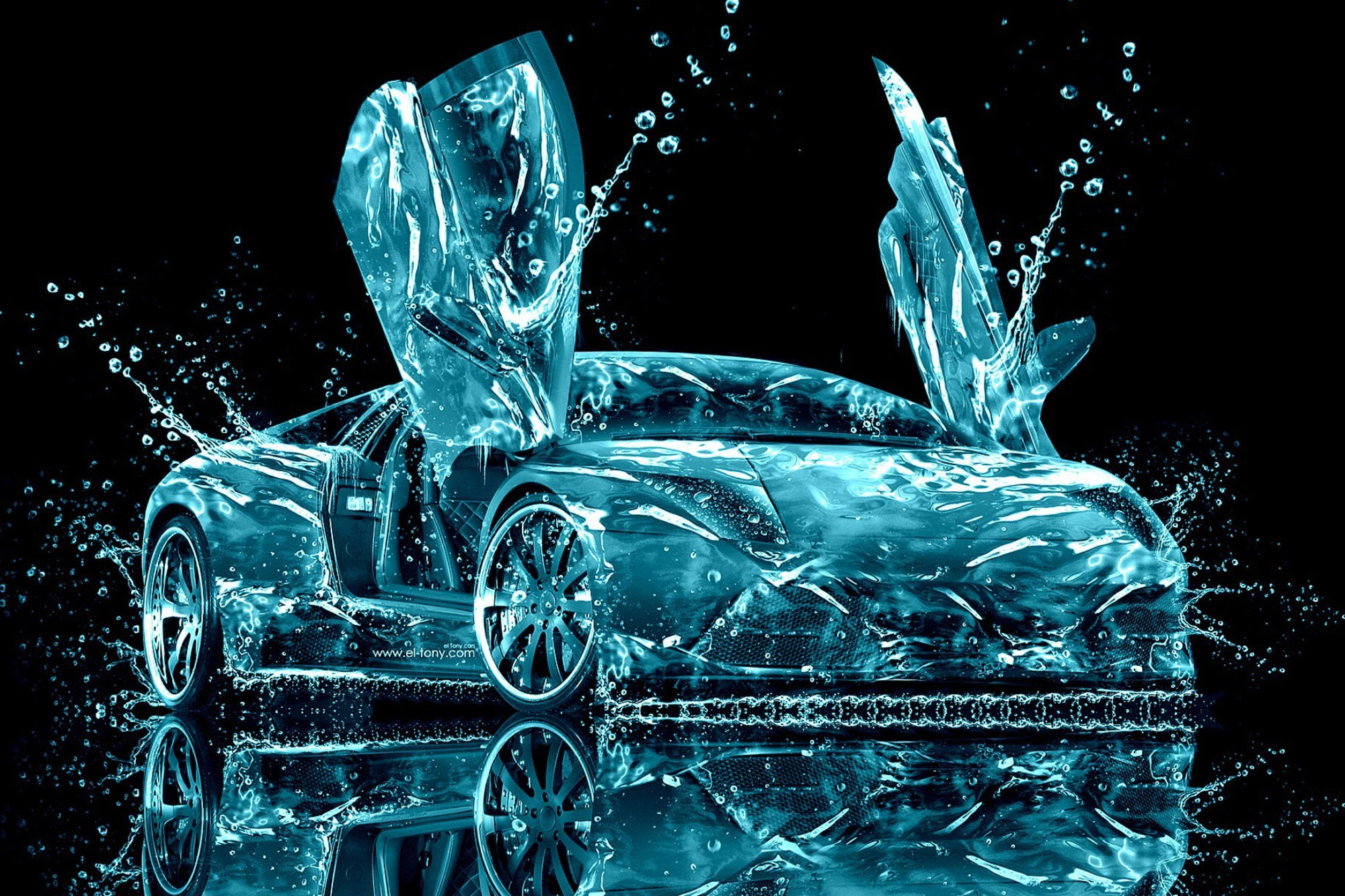 Lamborghini Water Abstract Wallpaper