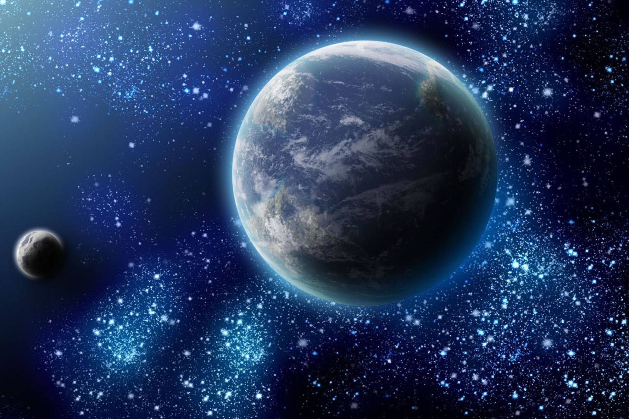 Earth From Space At Night HD Wallpaper Background