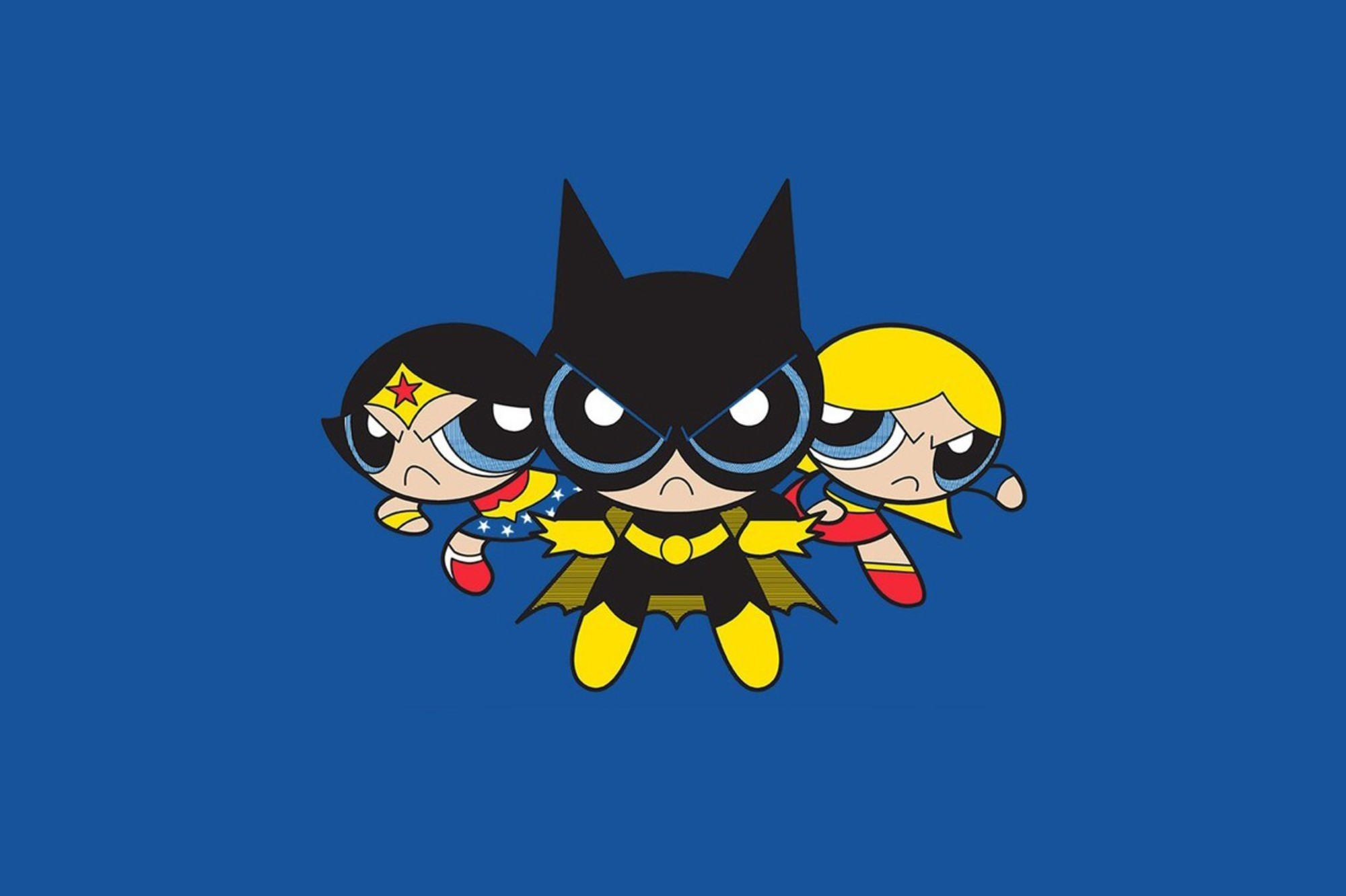Dc Powerpuff Girls Batgirl Supergirl Wonder Woman Wallpaper
