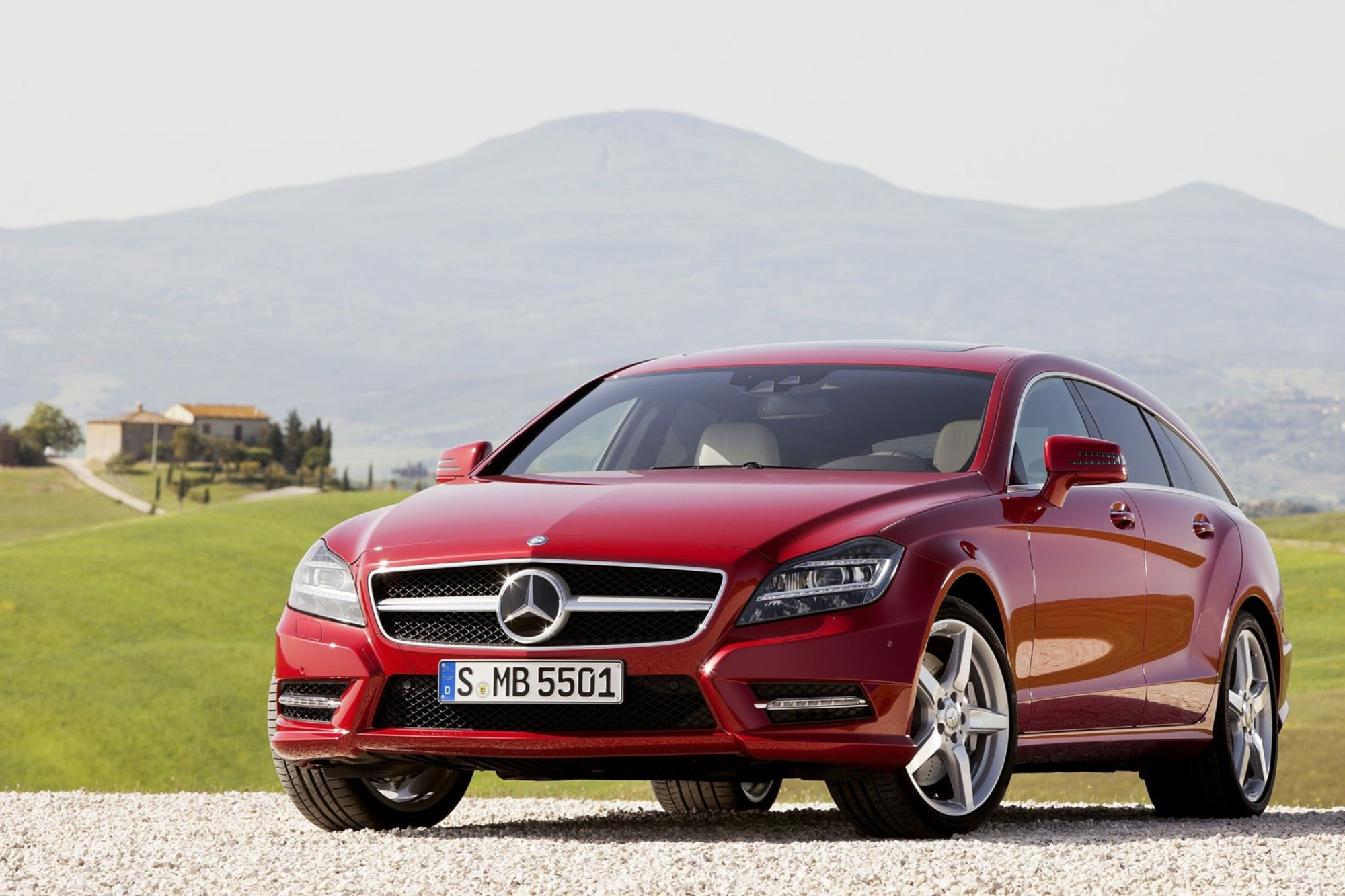 Cars shooting red mercedes-benz cls-class german cls ...