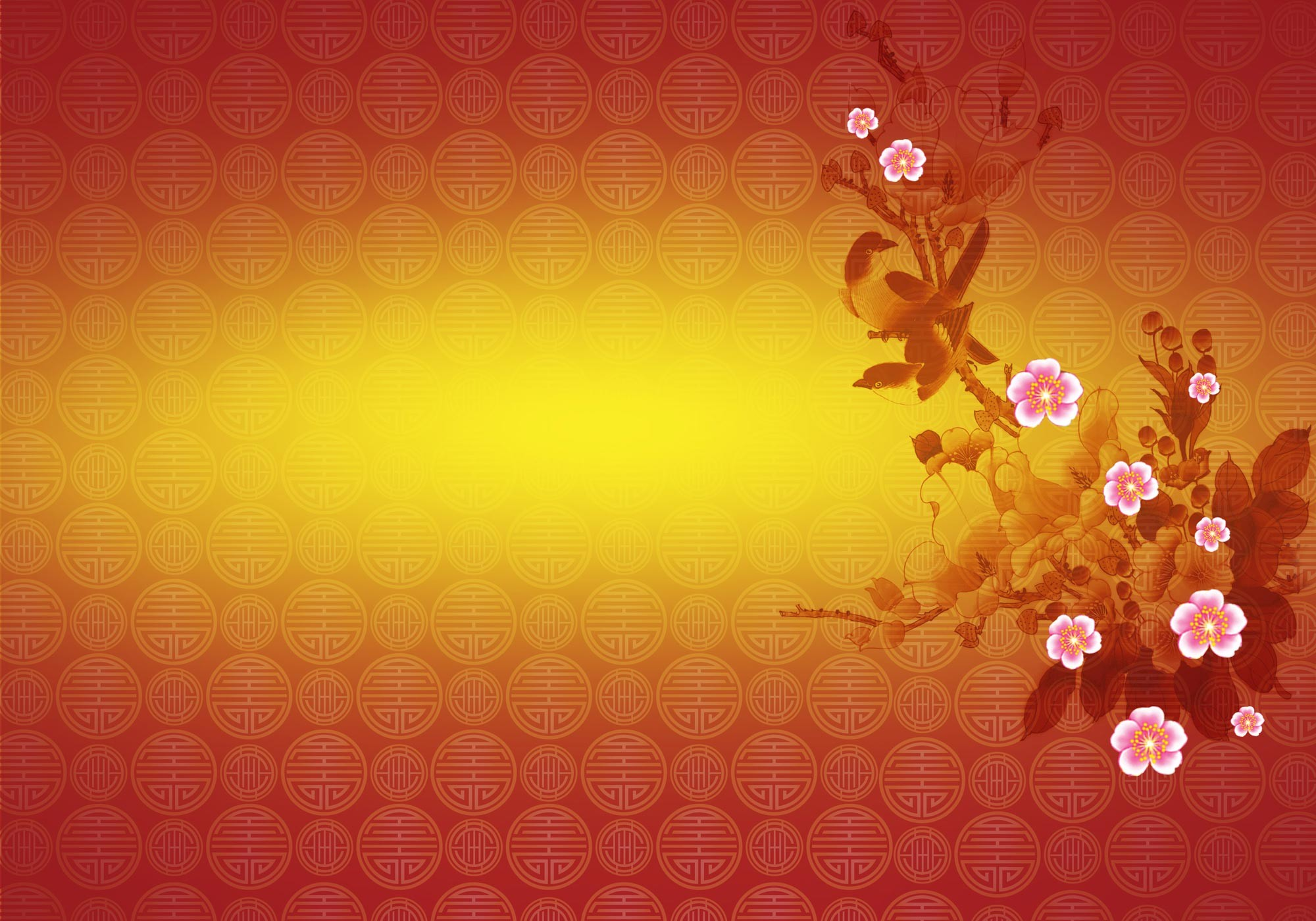 chinese new year cherry blossom wallpaper