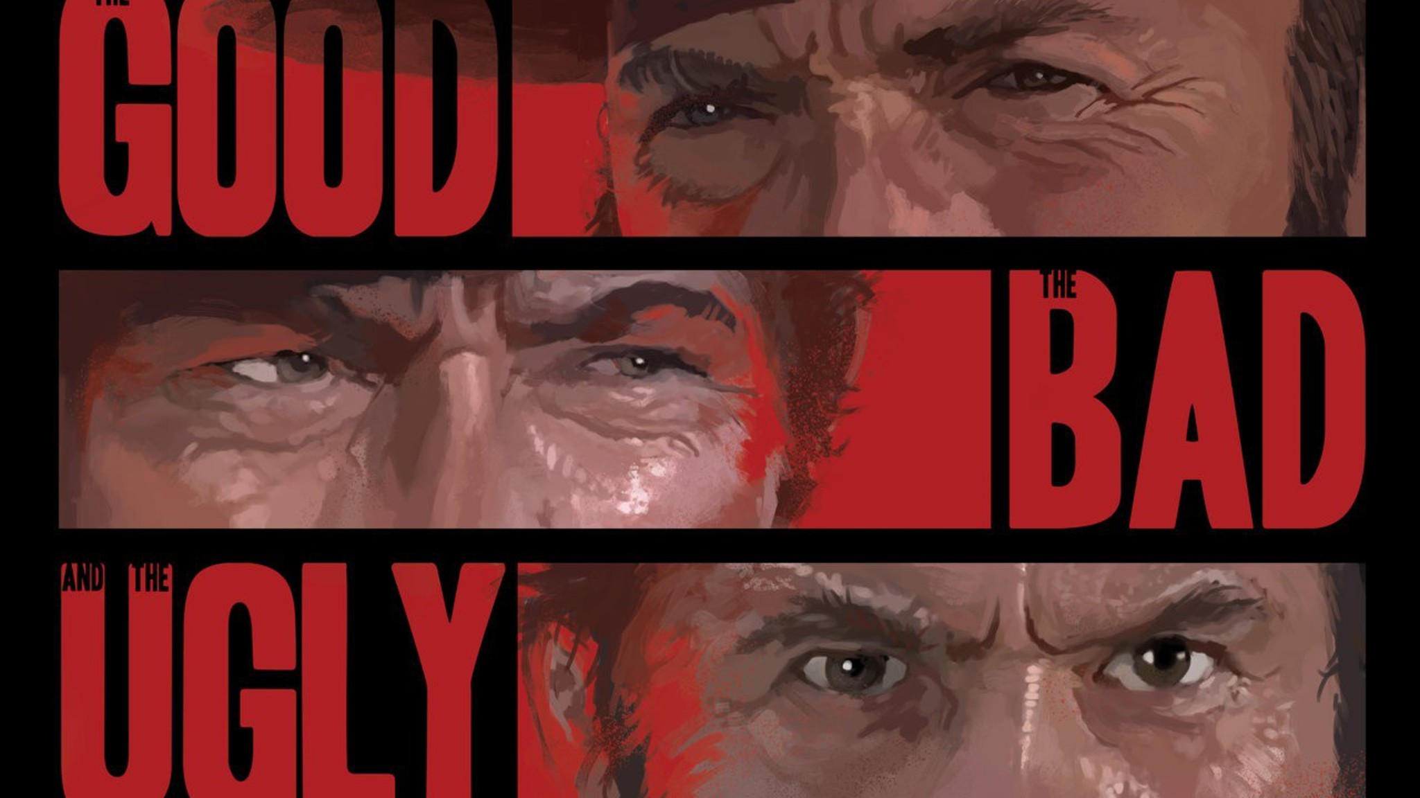Eastwood Western The Good Bad And Ugly Wallpaper