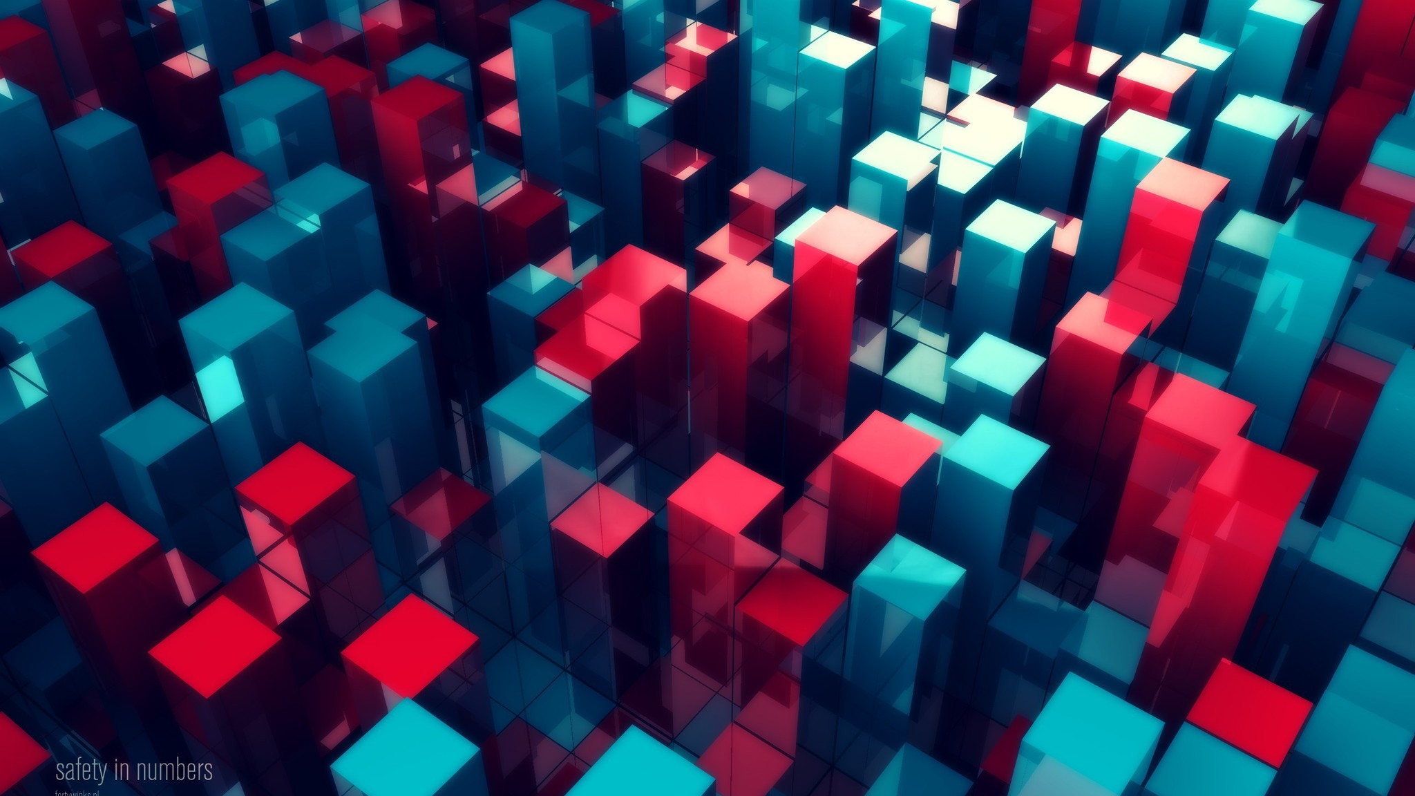 Abstract Numbers 3d Colors Rendering Wallpaper